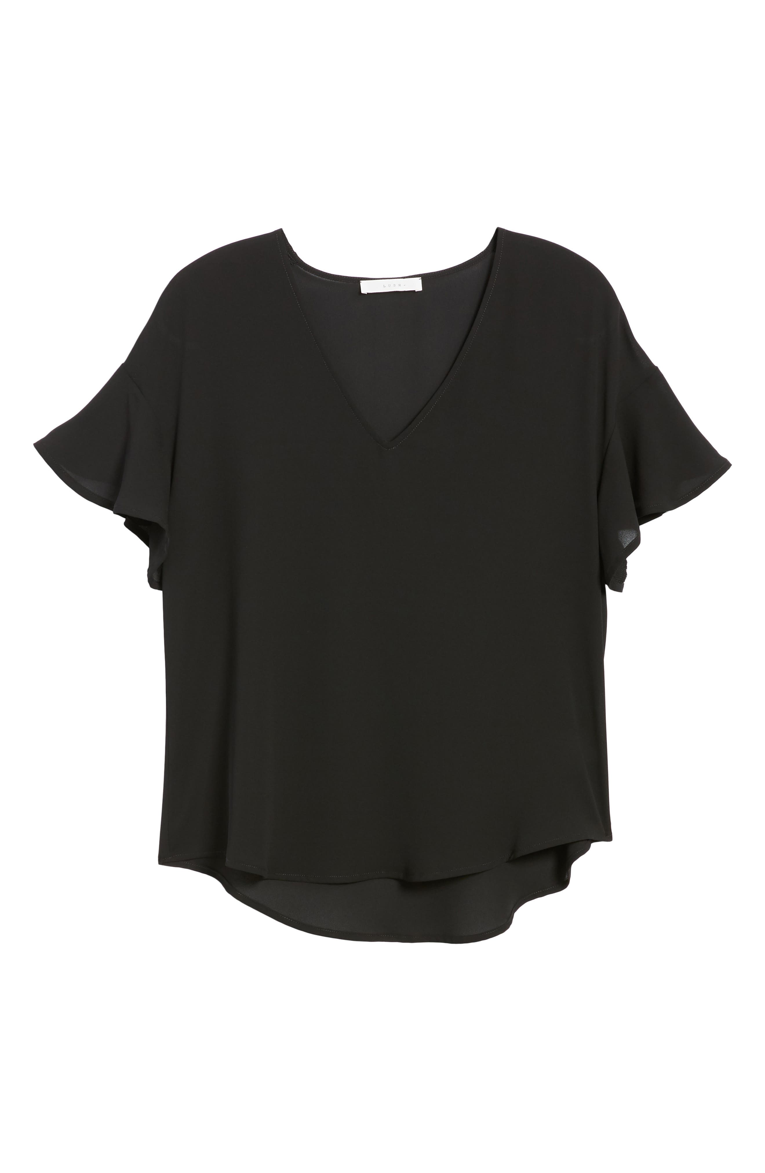 Crepe Tee,                             Alternate thumbnail 41, color,