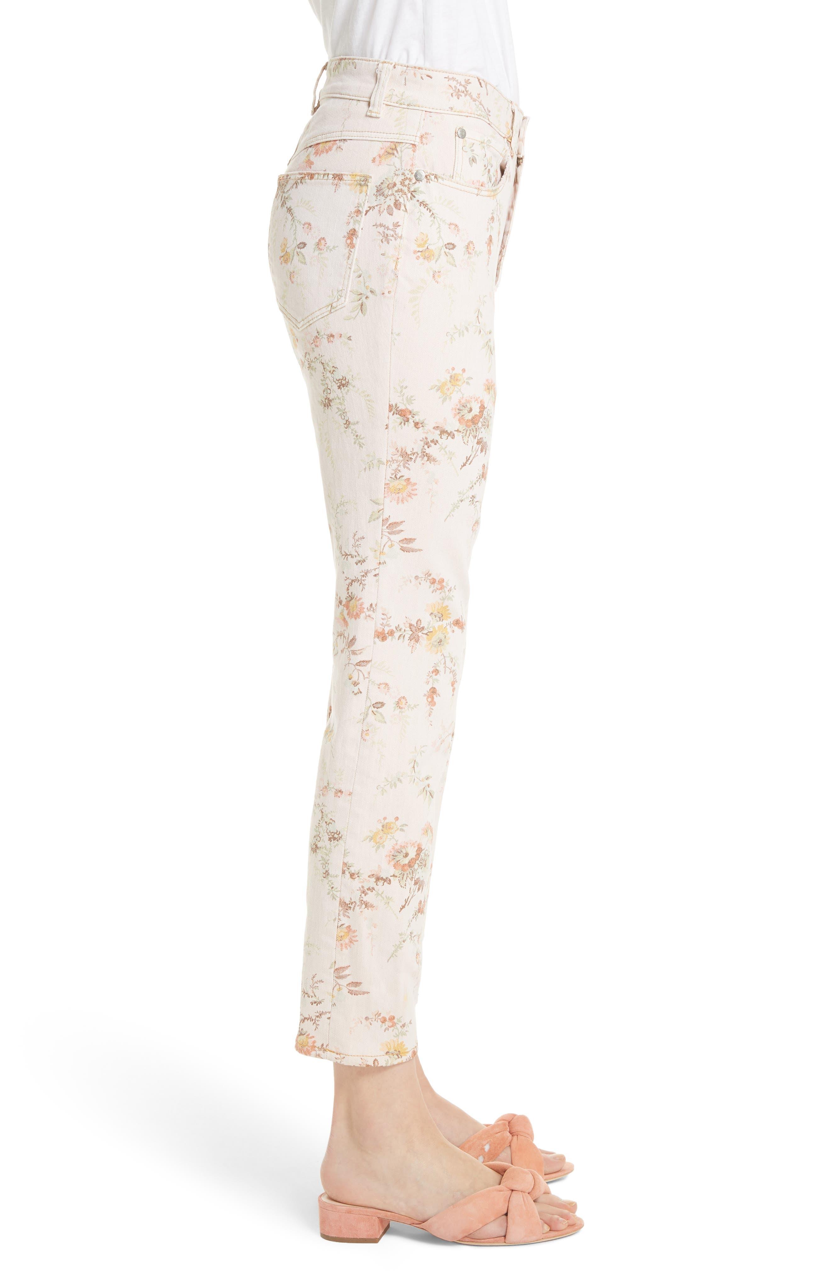 Belle Bouquet Ines Ankle Jeans,                             Alternate thumbnail 3, color,                             903