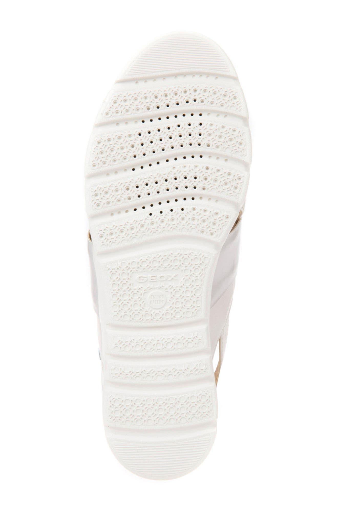 Amalitha Platform Sandal,                             Alternate thumbnail 5, color,                             OFF WHITE LEATHER