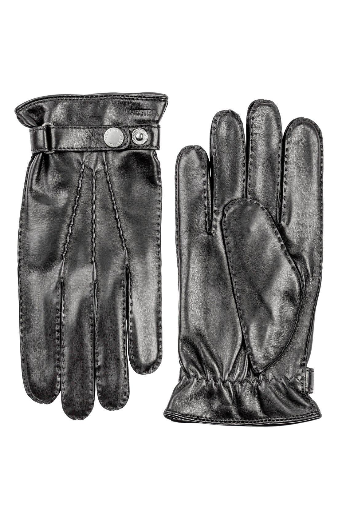 'Jake' Leather Gloves,                         Main,                         color, 001
