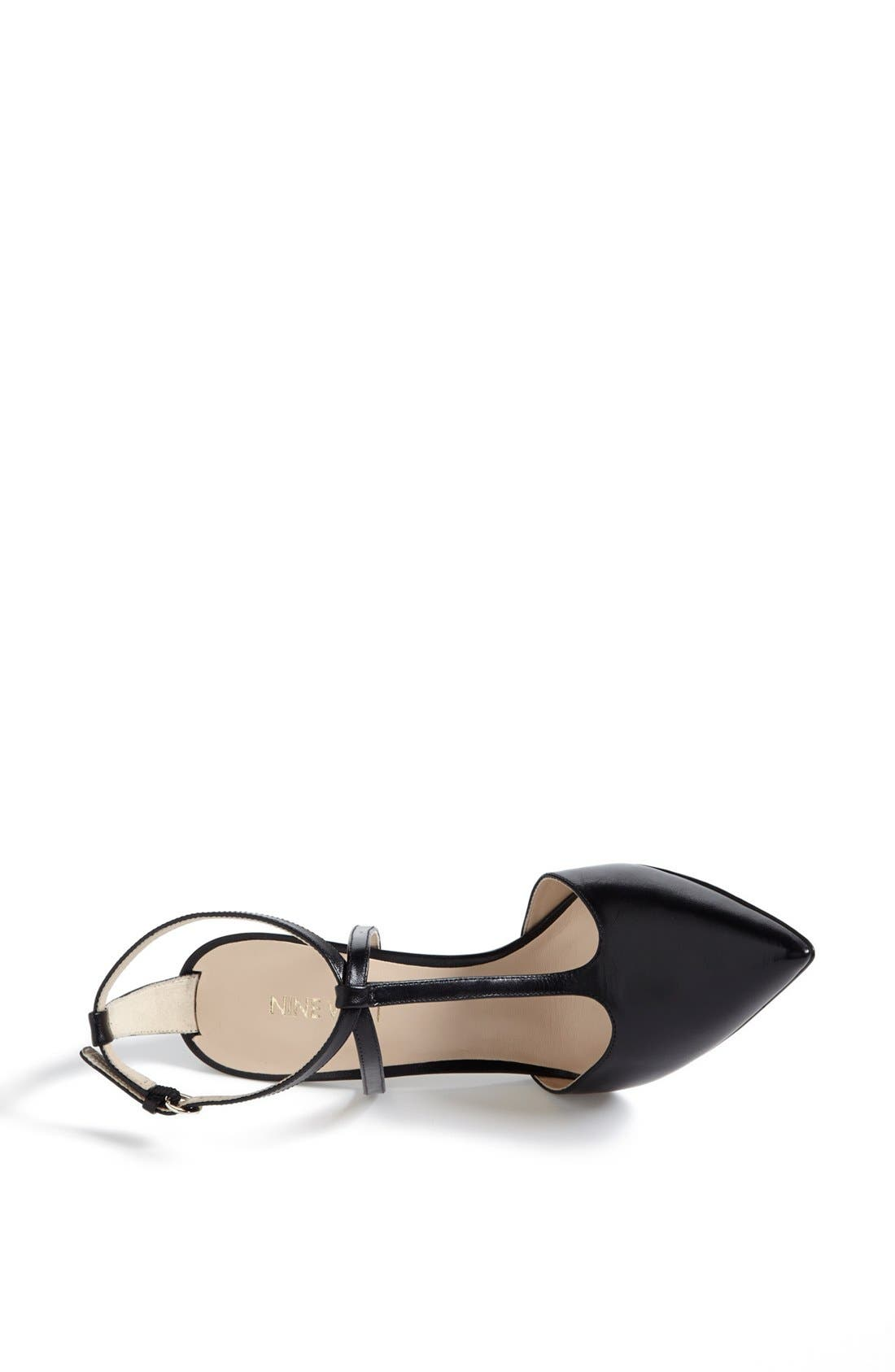 NINE WEST,                             'Tixilated' Pump,                             Alternate thumbnail 4, color,                             001