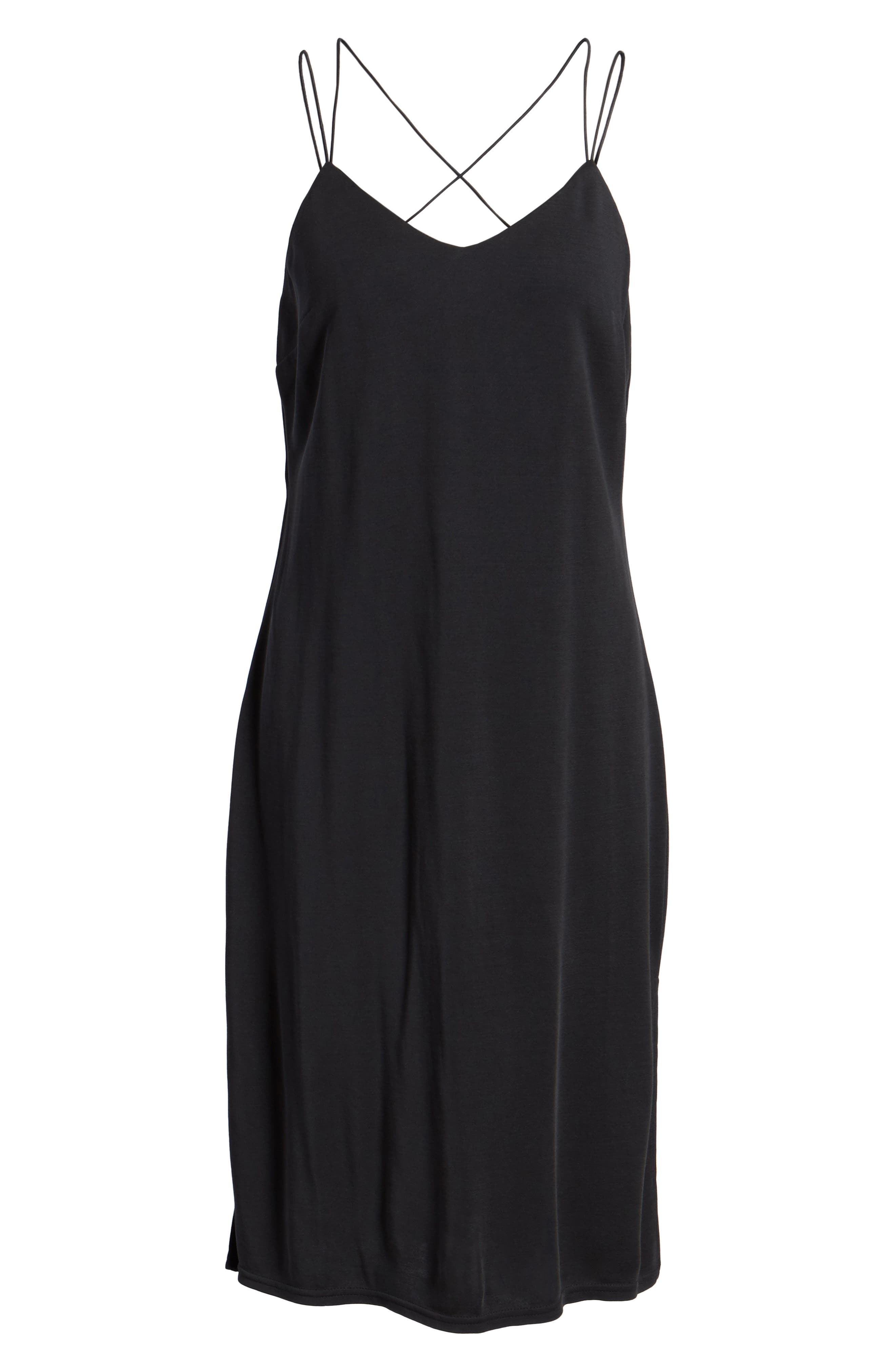 Alley Strappy Camisole Dress,                             Alternate thumbnail 6, color,                             001