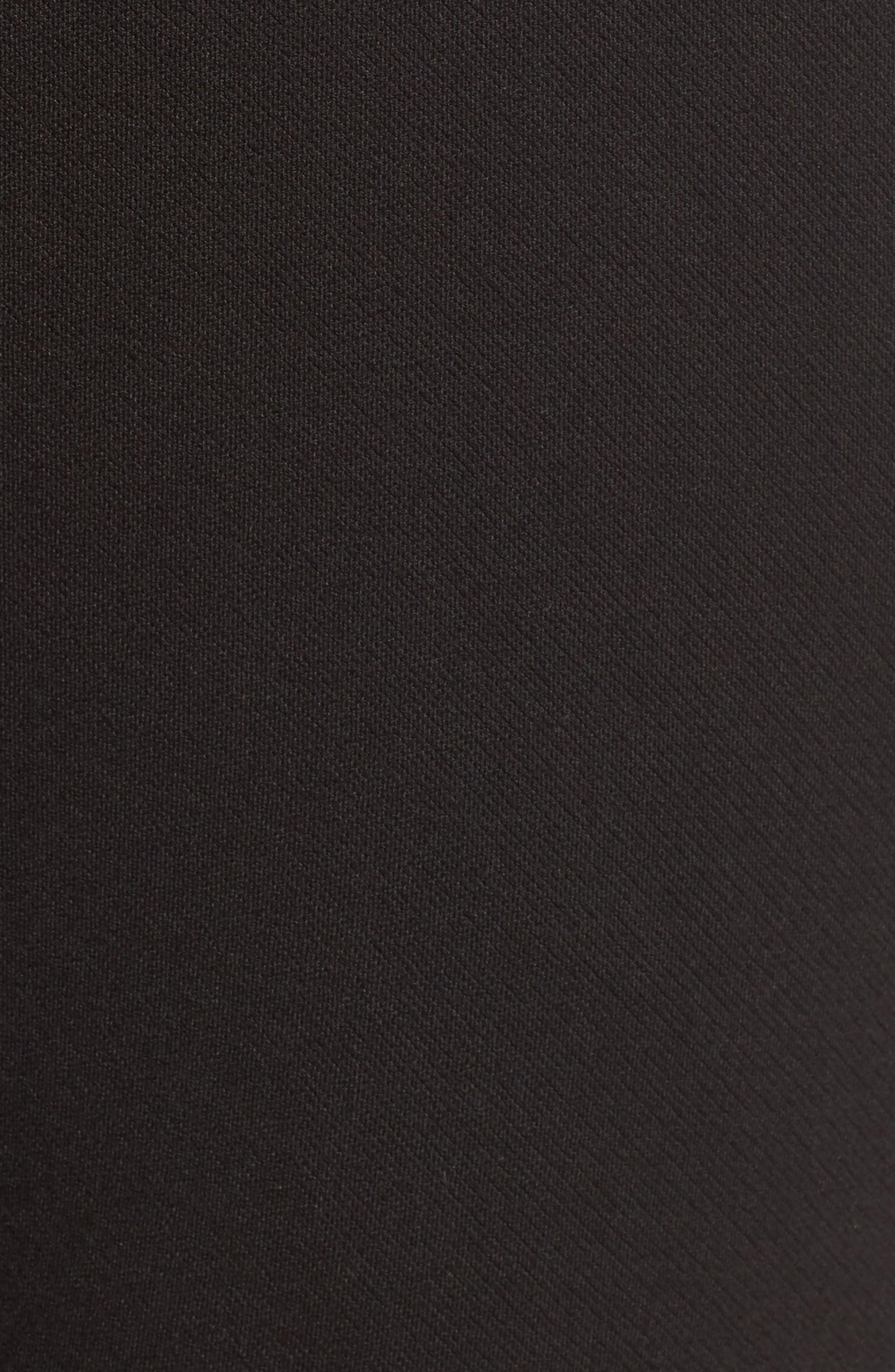 Brighton Crop Knit Cigarette Pants,                             Alternate thumbnail 5, color,                             BLACK