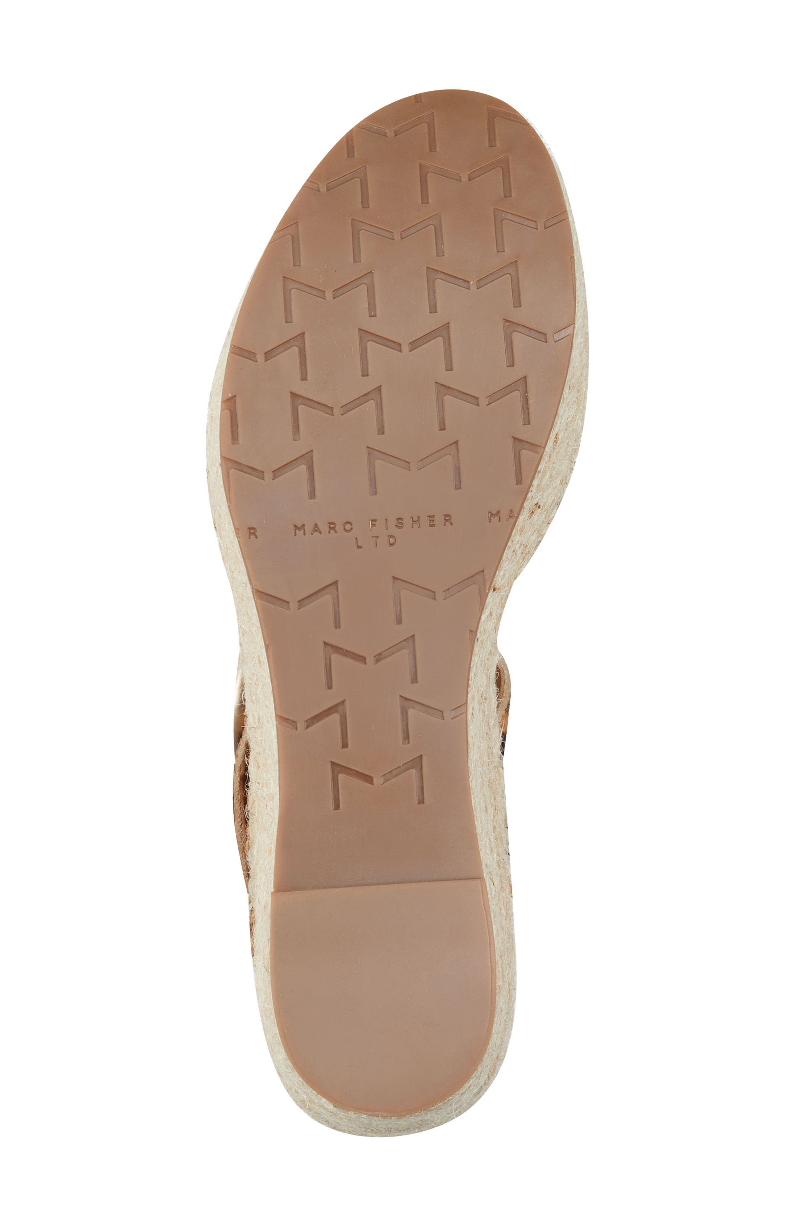 MARC FISHER LTD,                             Rexly Espadrille Platform Sandal,                             Alternate thumbnail 6, color,                             LEOPARD HAIR CALF
