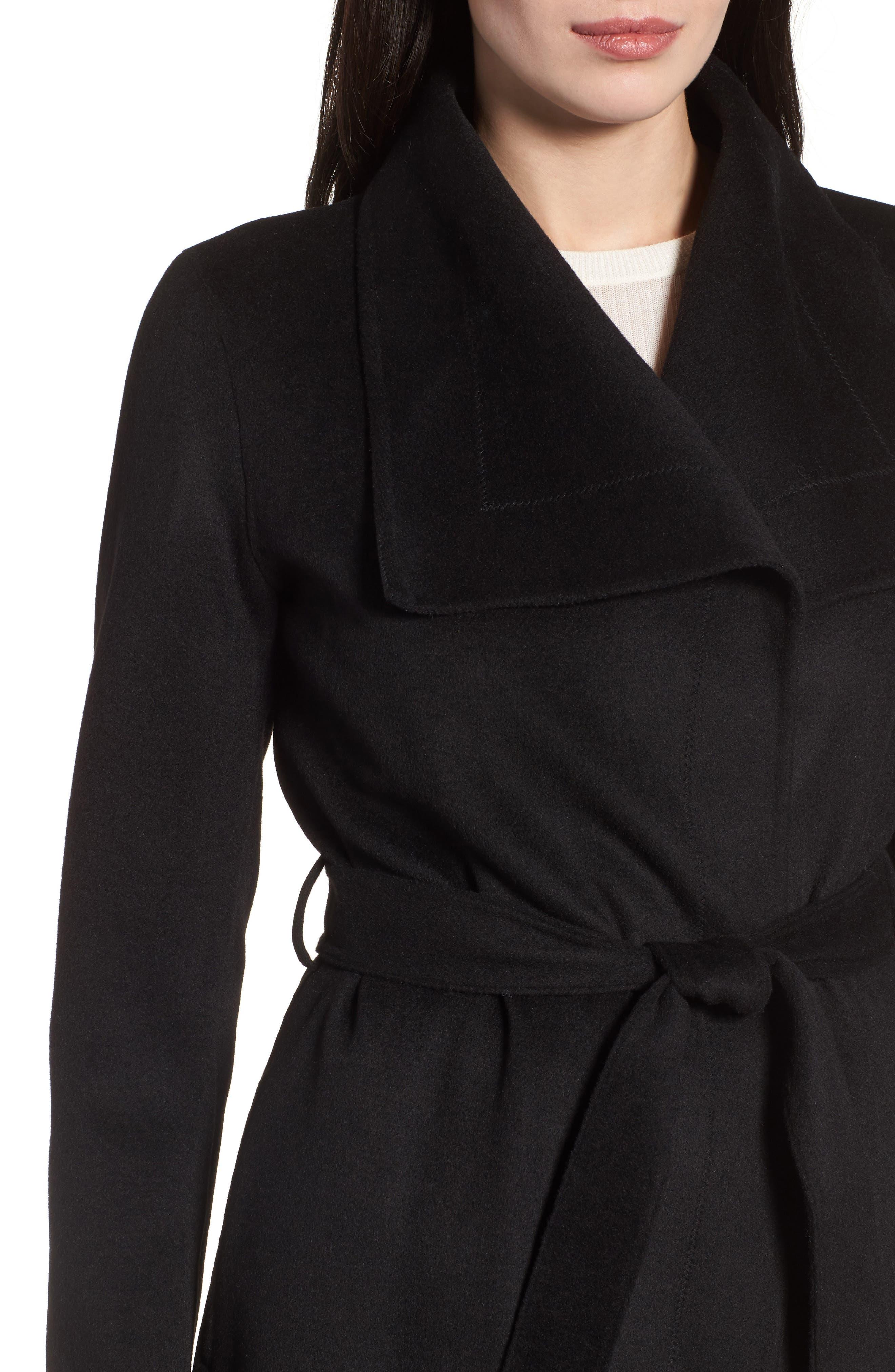 Ellie Double Face Wool Blend Wrap Coat,                             Alternate thumbnail 10, color,