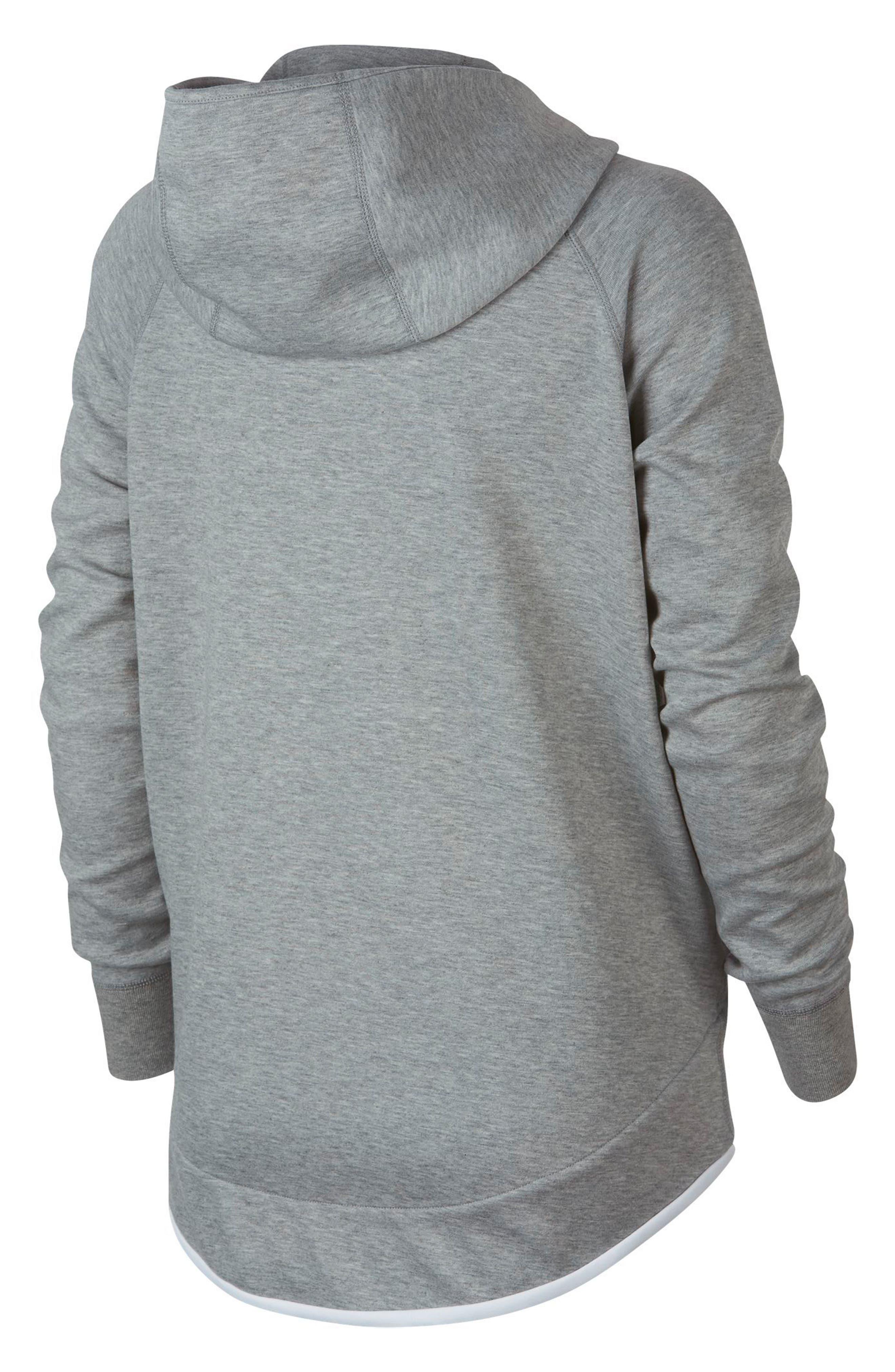 Sportswear Tech Fleece Cape Jacket,                             Alternate thumbnail 8, color,                             DARK GREY HEATHER/ WHITE