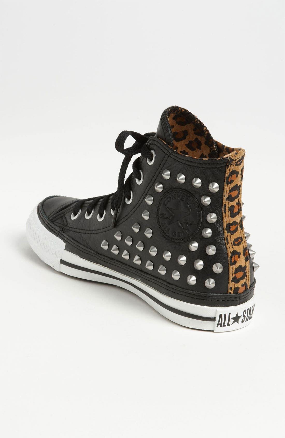 Chuck Taylor<sup>®</sup> All Star<sup>®</sup> Studded High Top Sneaker,                             Alternate thumbnail 4, color,                             001