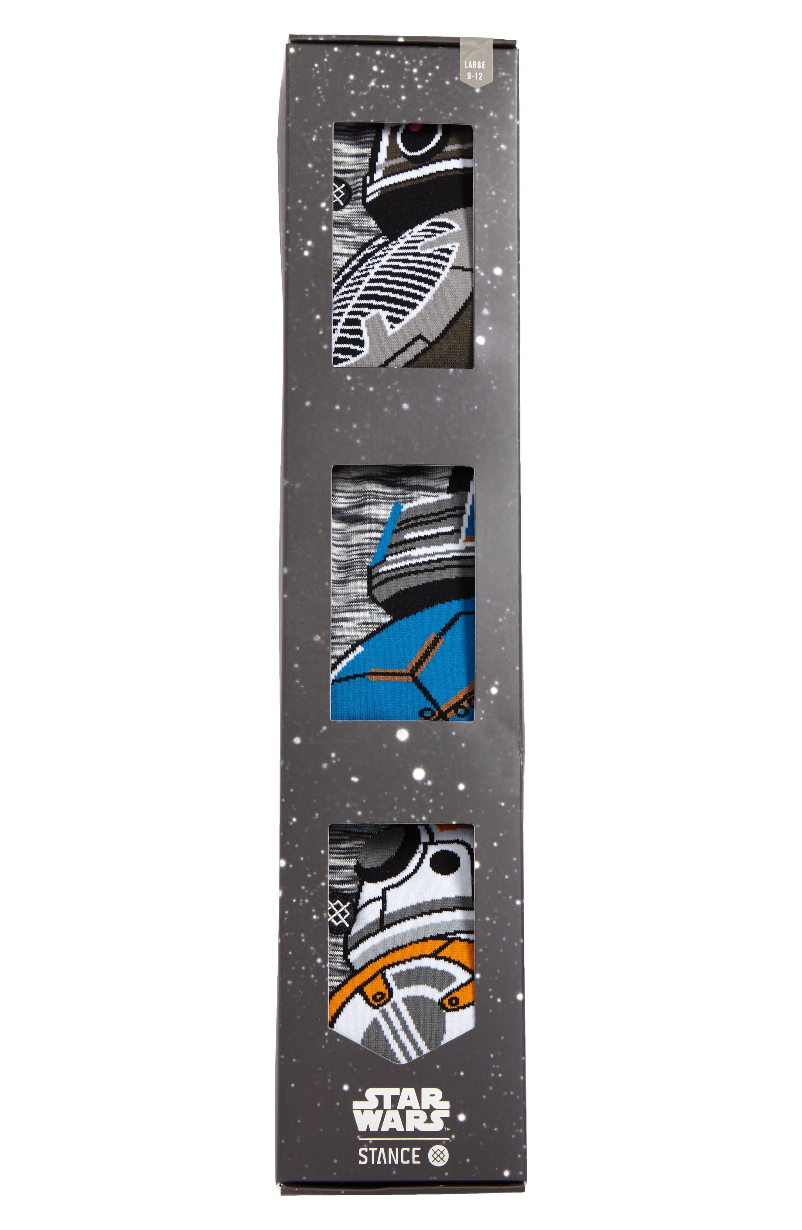 Star Wars<sup>™</sup> Droid 3-Pack Socks,                             Alternate thumbnail 3, color,                             960