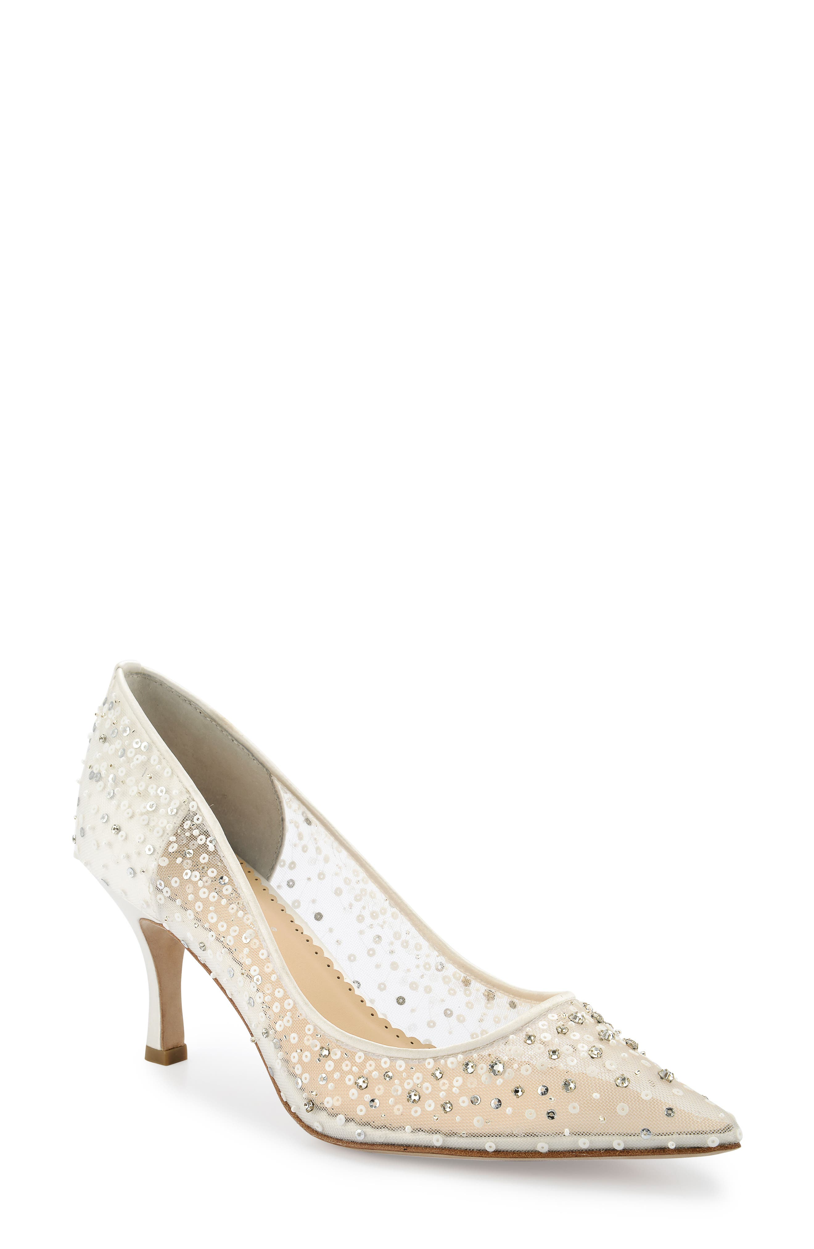 Evelyn Pump,                             Main thumbnail 1, color,                             IVORY SILK