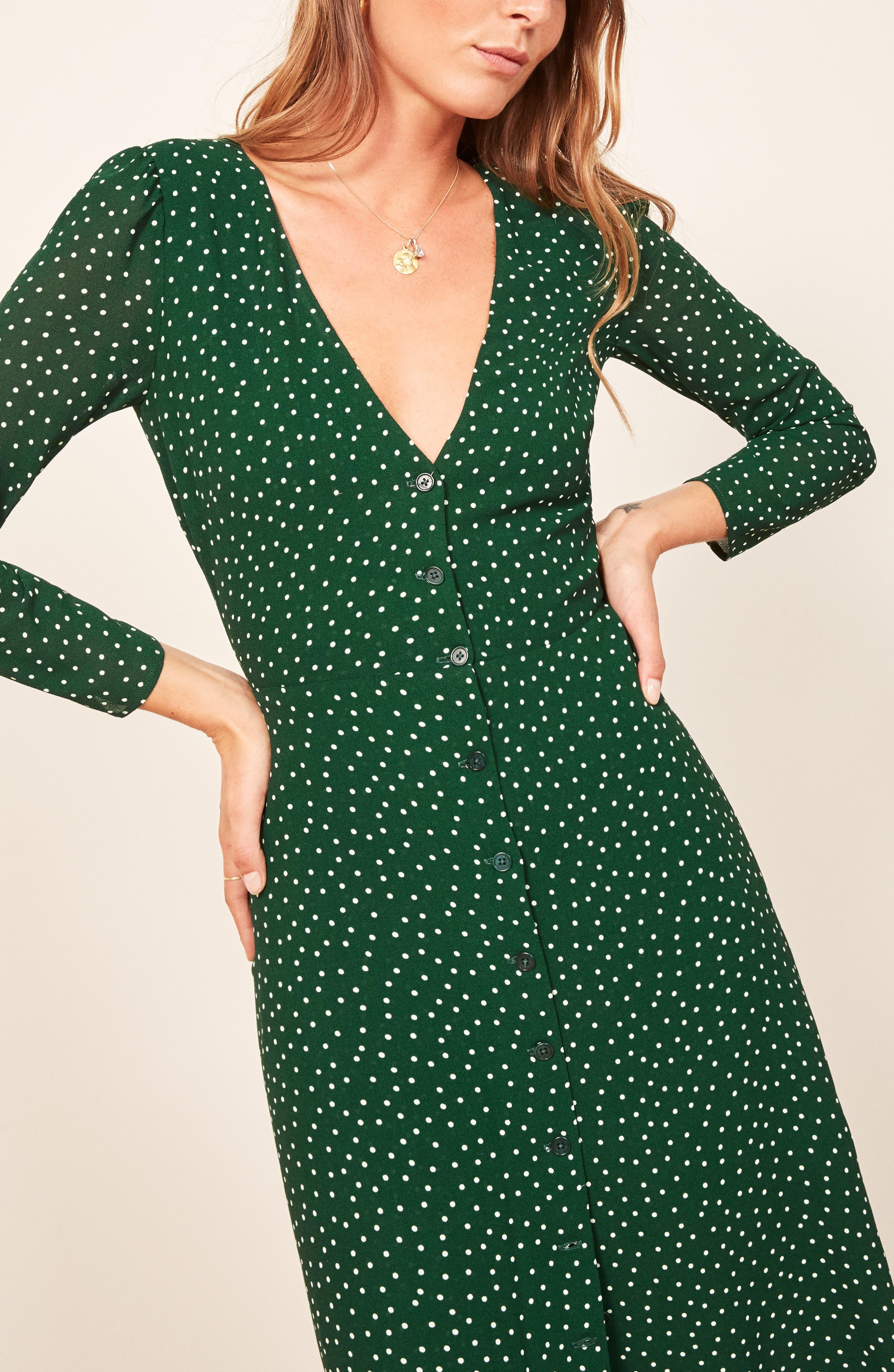 Alma Midi Dress,                             Alternate thumbnail 4, color,                             ROSEMARY