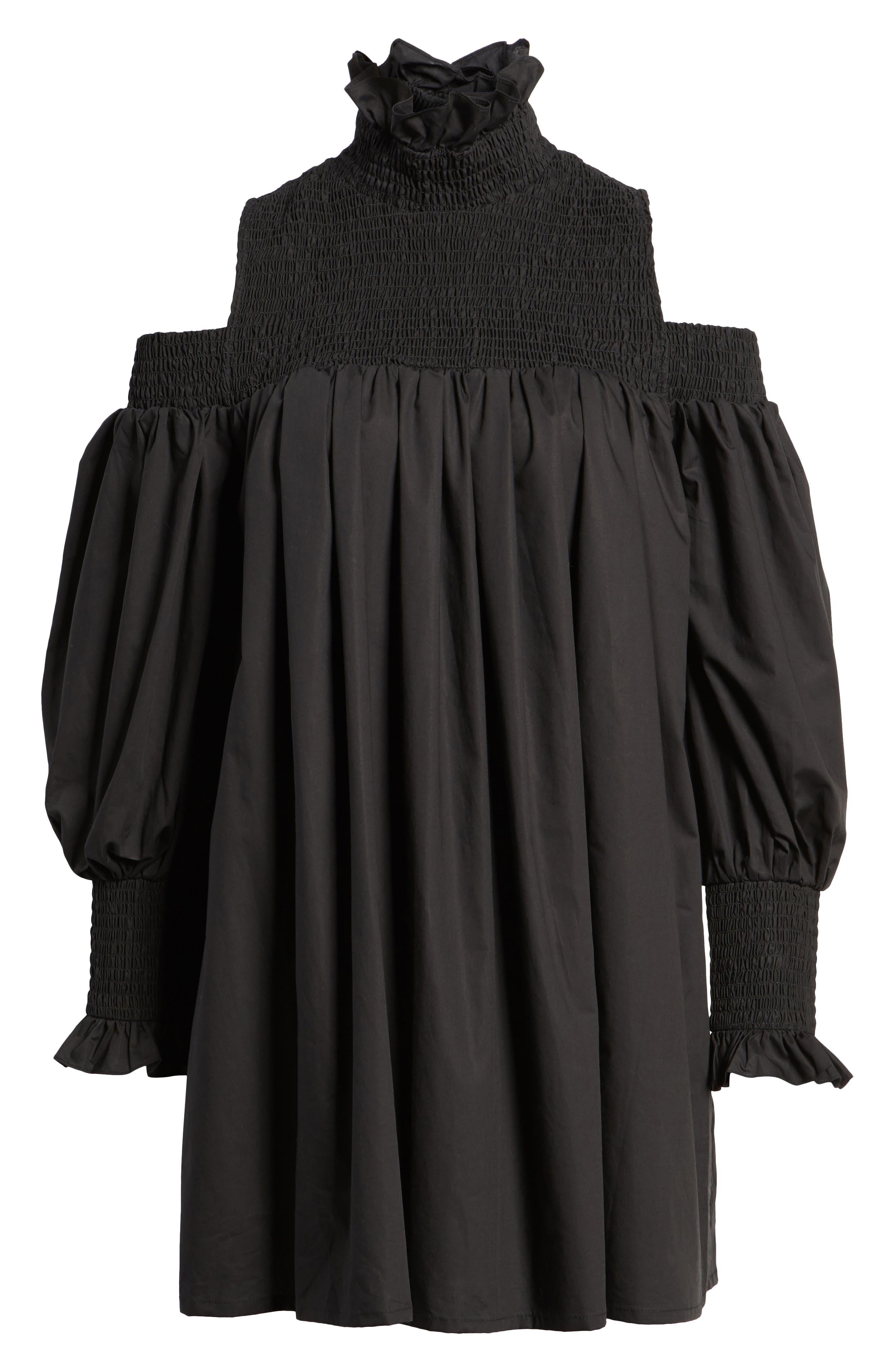 Ivy Cold Shoulder Dress,                             Alternate thumbnail 6, color,                             001