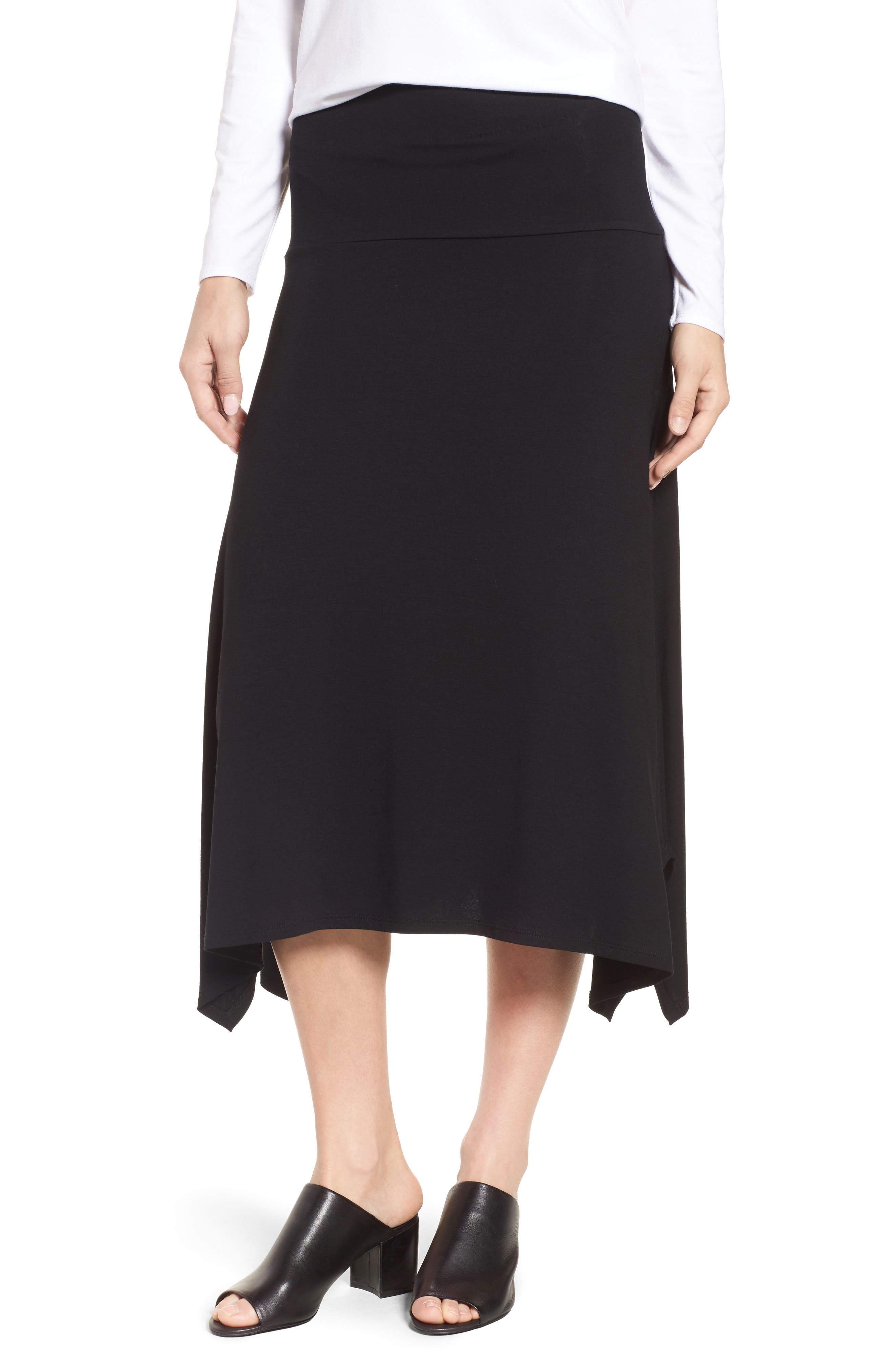 Flared Knit Skirt,                         Main,                         color, 001