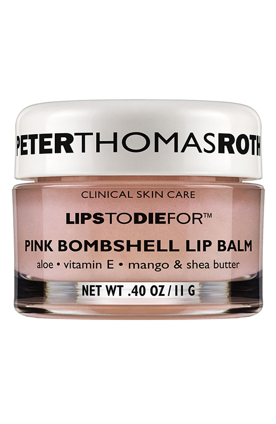 PETER THOMAS ROTH,                             'Lips to Die For<sup>™</sup> - Pink Bombshell' Lip Balm,                             Main thumbnail 1, color,                             000