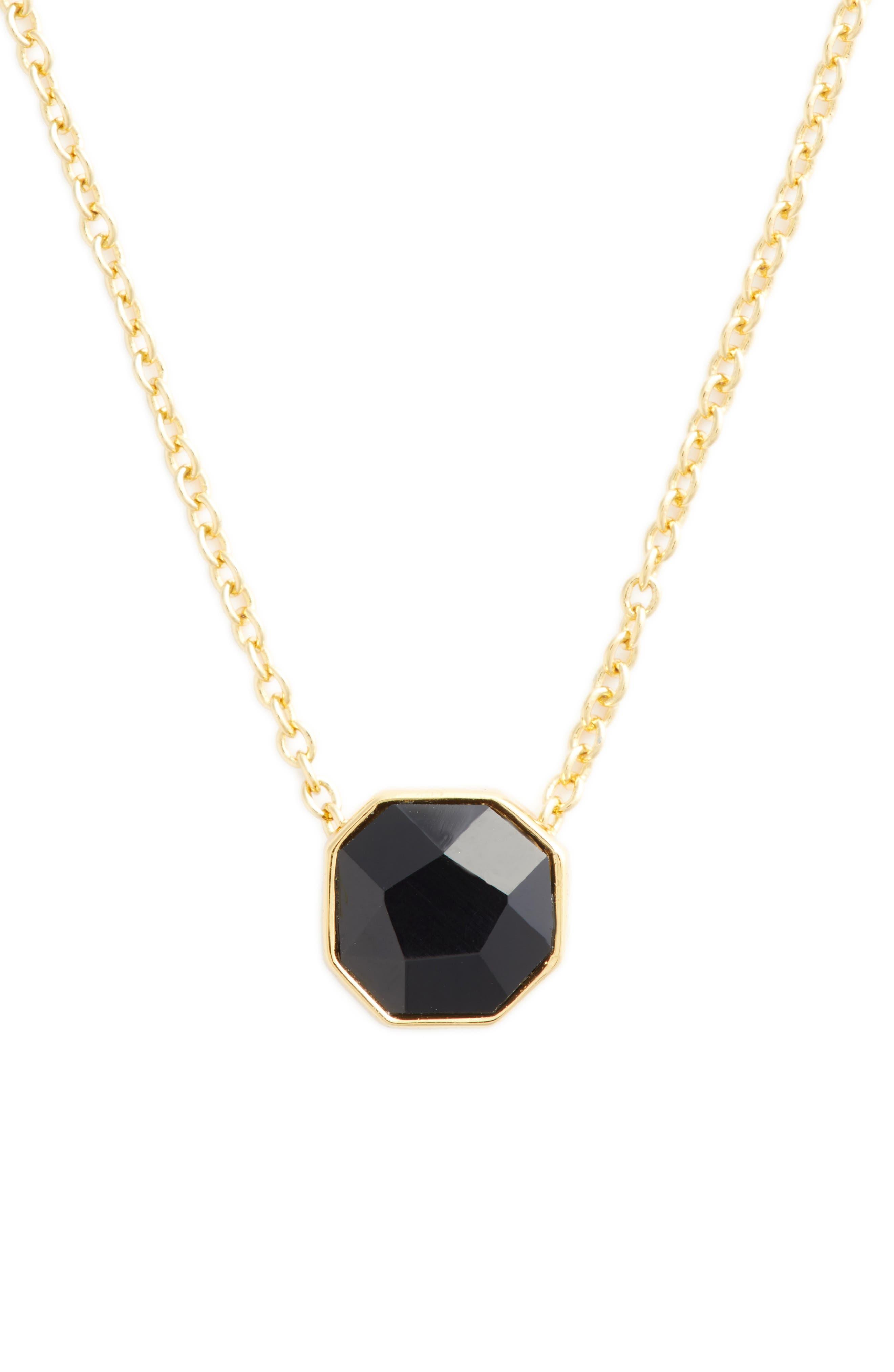 GORJANA Power Stone Adjustable Pendant Necklace, 18 in Black Onyx