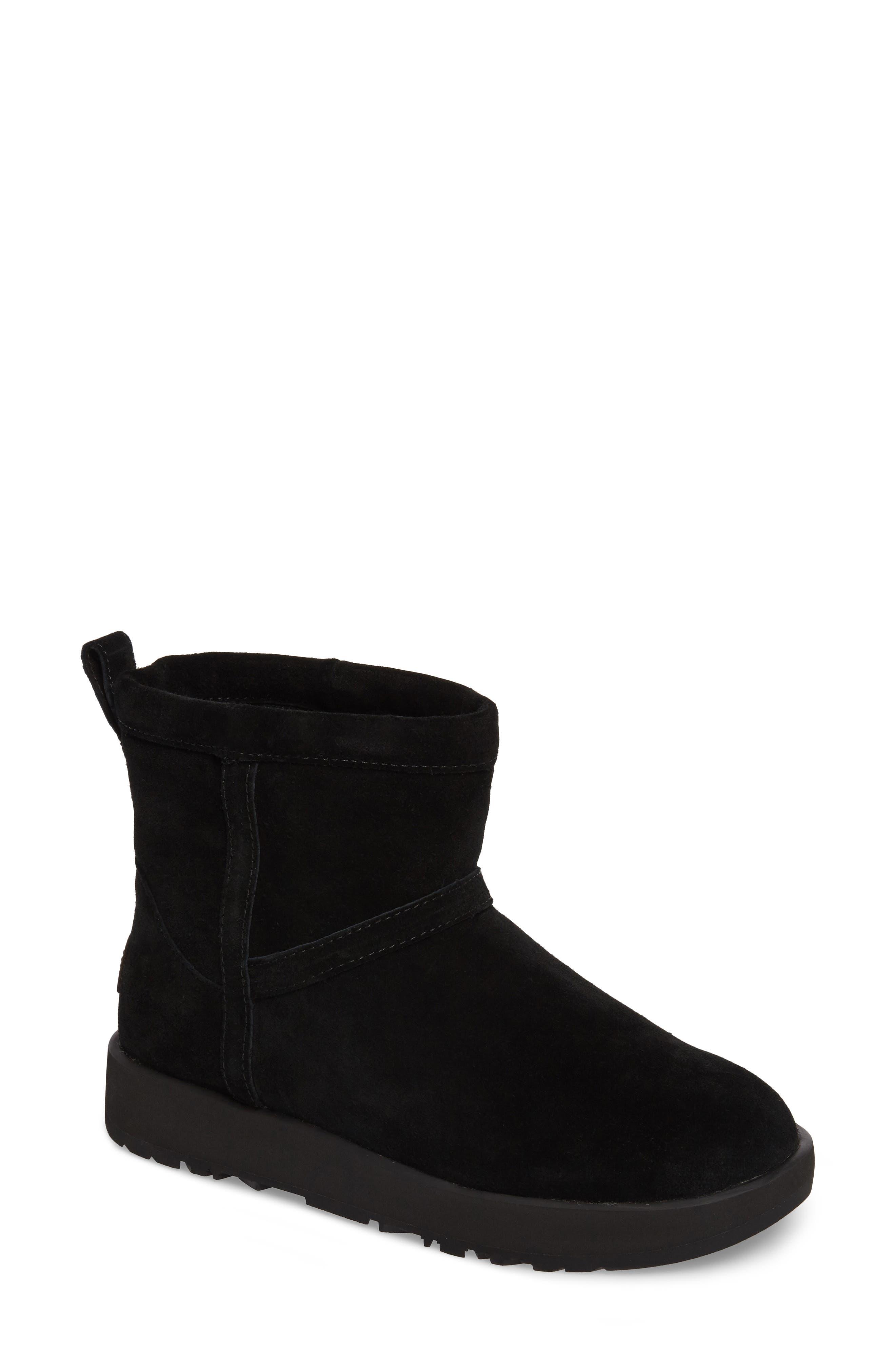 UGG<SUP>®</SUP>,                             Classic Mini Waterproof Boot,                             Main thumbnail 1, color,                             BLACK SUEDE