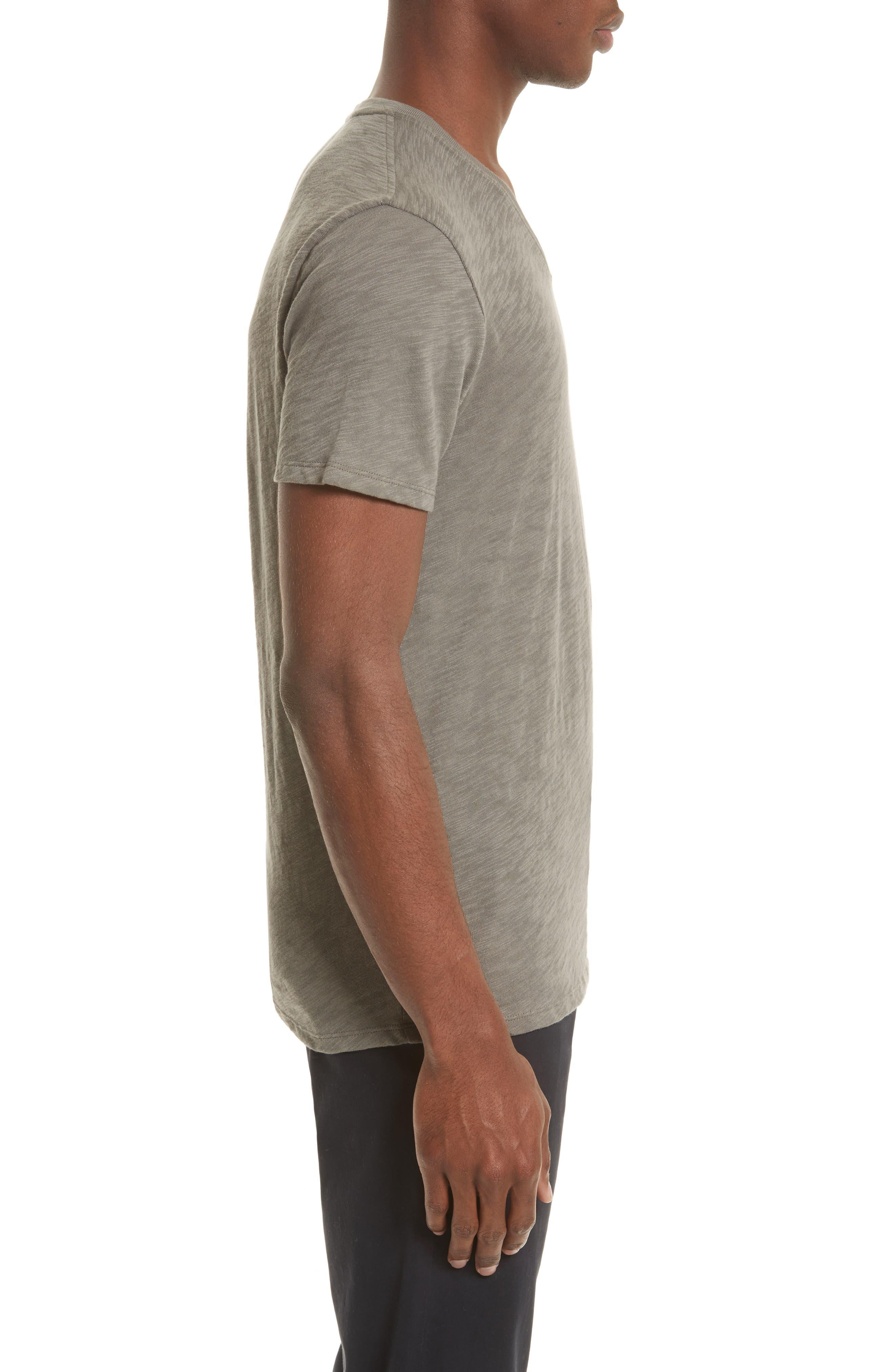 Slub V-Neck T-Shirt,                             Alternate thumbnail 3, color,                             302