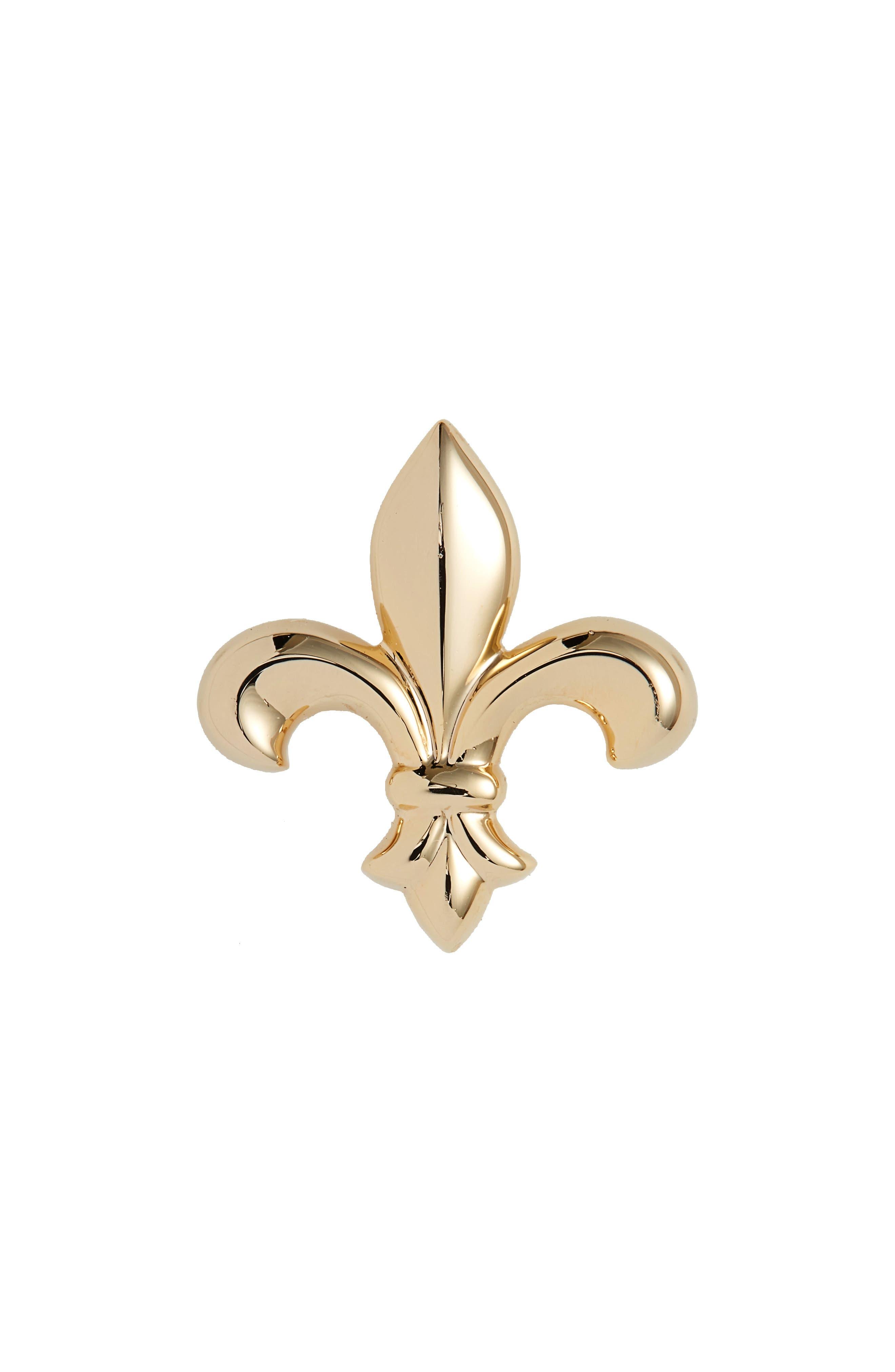Fleur de Lis Lapel Pin,                         Main,                         color, GOLD