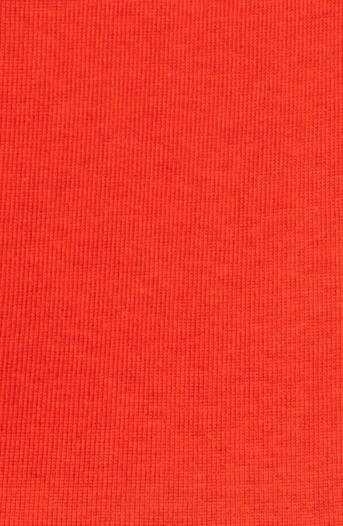 Ballet Neck Cotton & Modal Knit Elbow Sleeve Tee,                             Alternate thumbnail 151, color,