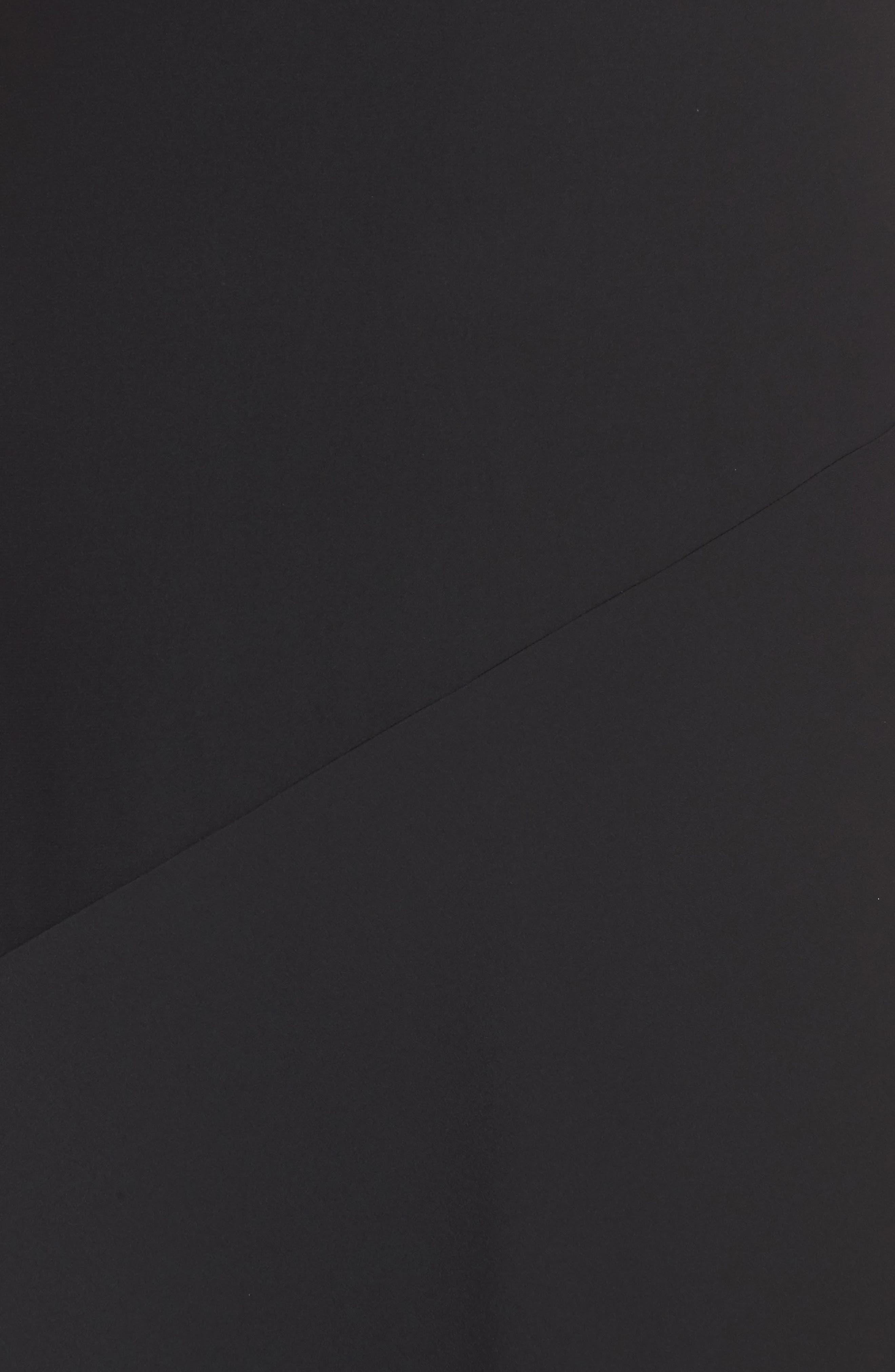 V-Neck Midi Slipdress,                             Alternate thumbnail 5, color,                             001