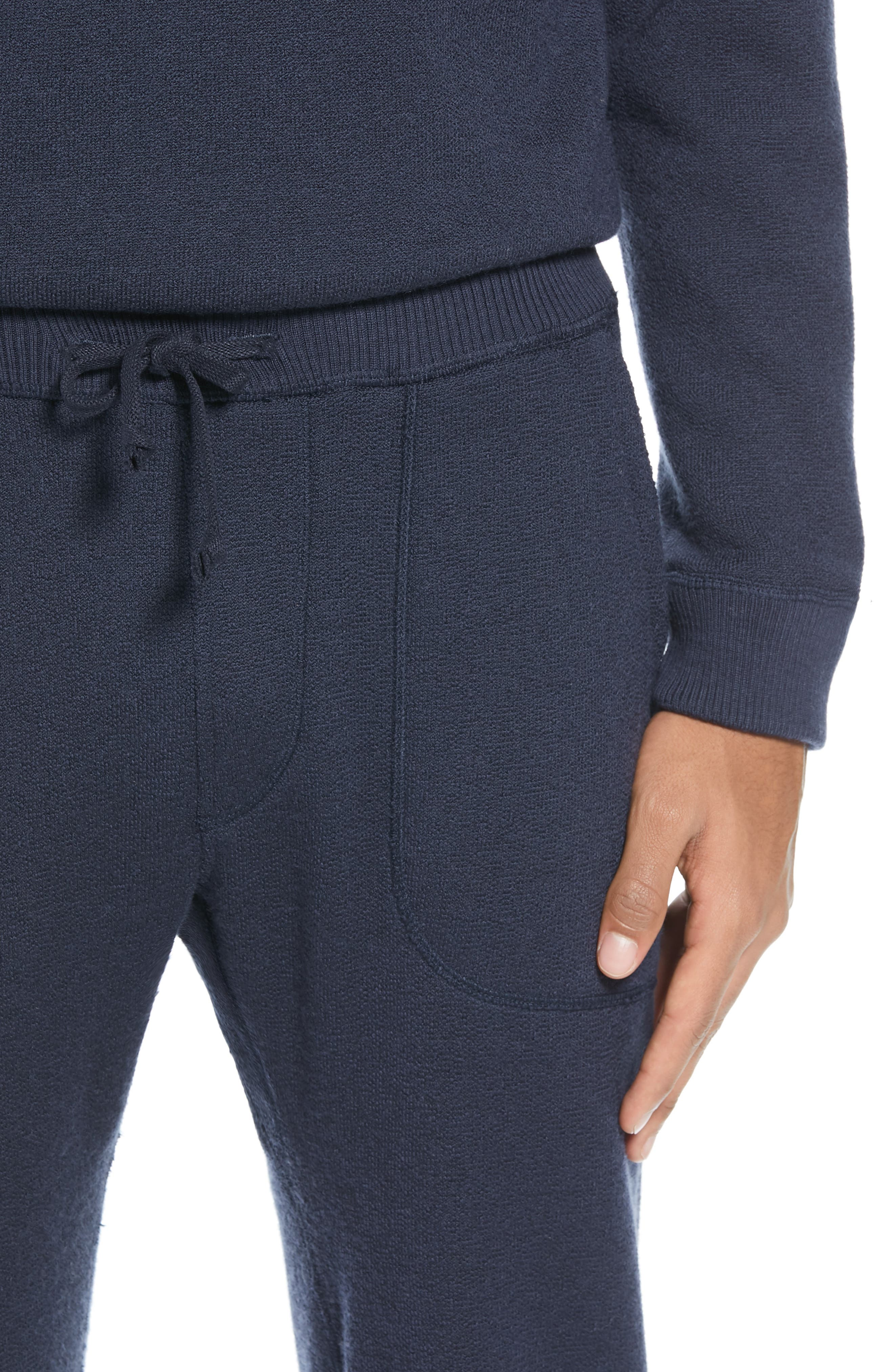 BEST MADE CO.,                             The Merino Wool Fleece Sweatpants,                             Alternate thumbnail 5, color,                             NAVY