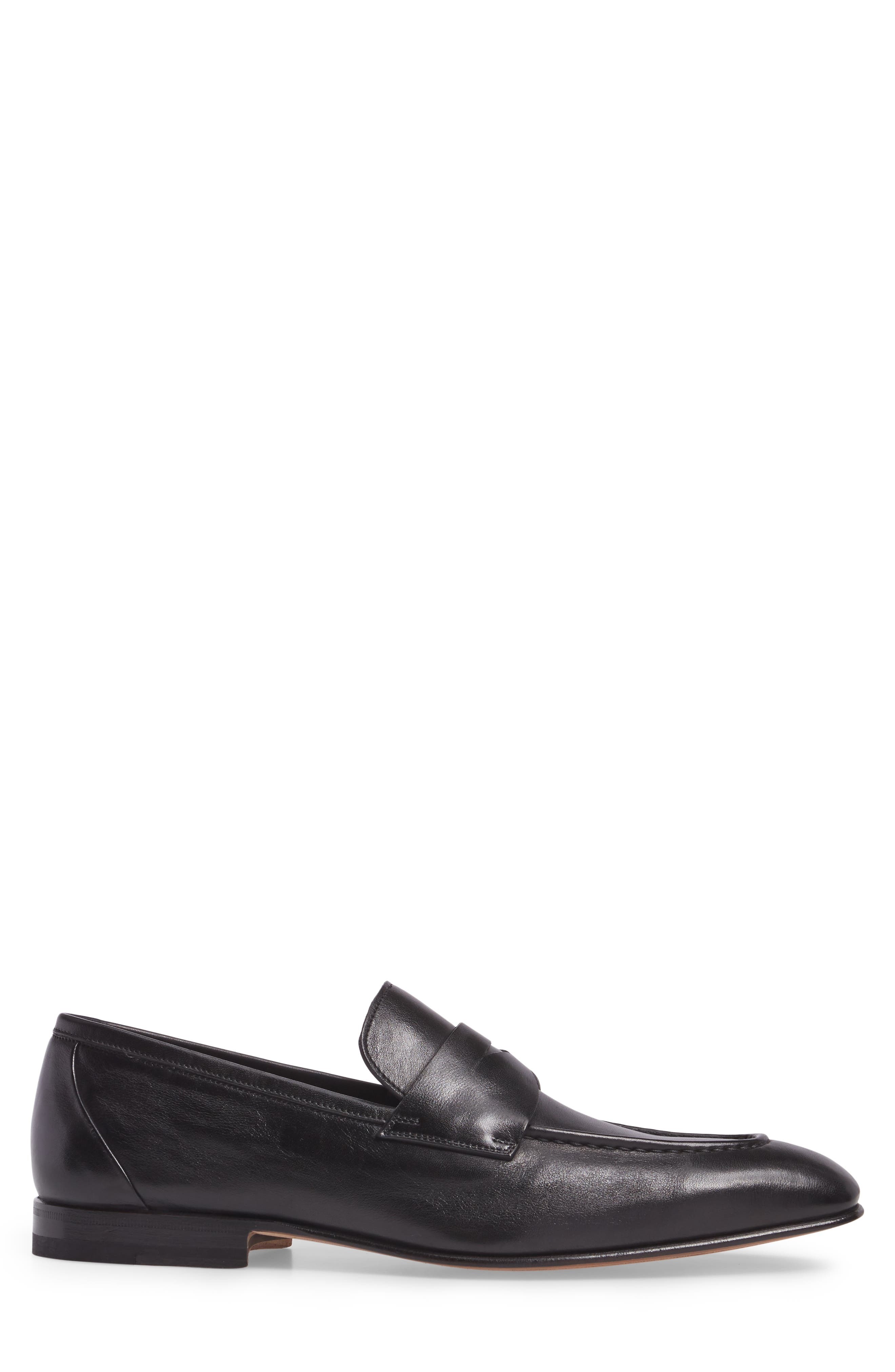 Gannon Penny Loafer,                             Alternate thumbnail 3, color,                             BLACK