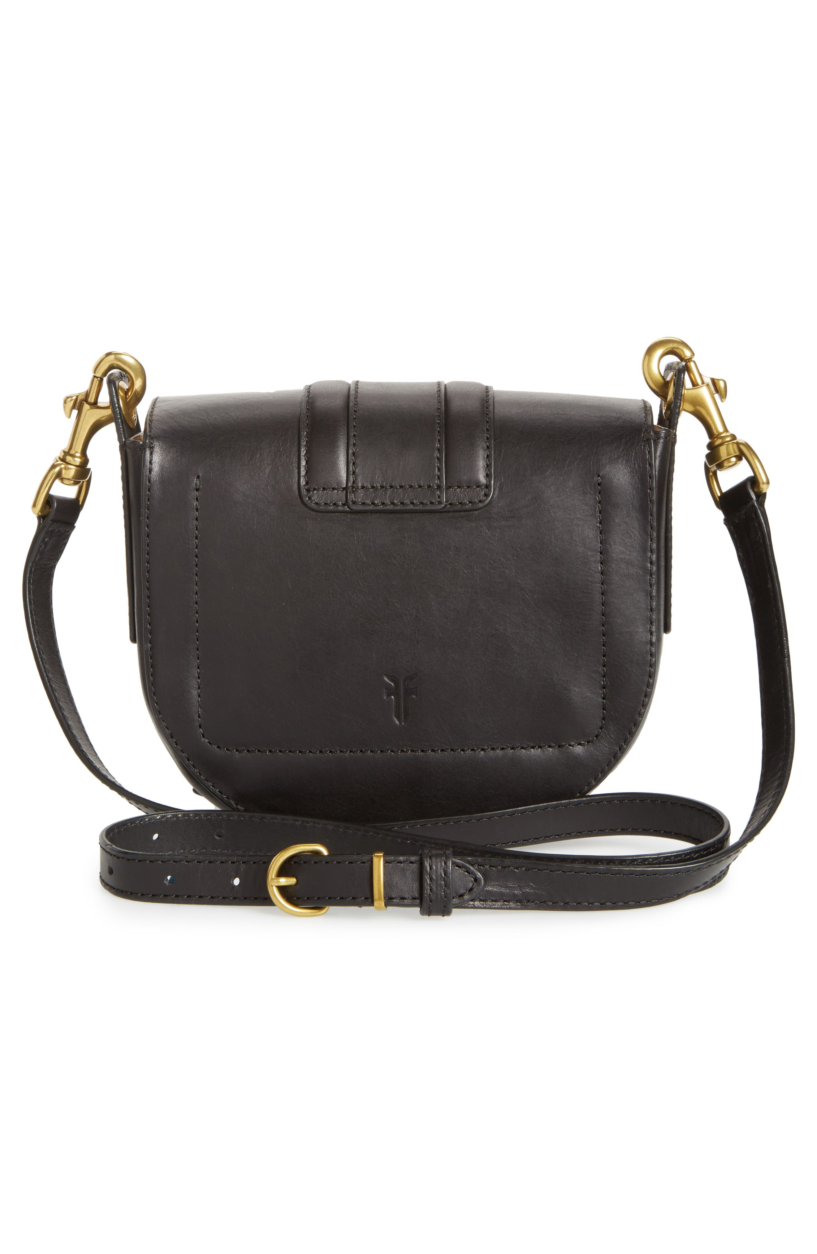 Small Ilana Harness Leather Saddle Bag,                             Alternate thumbnail 3, color,                             001