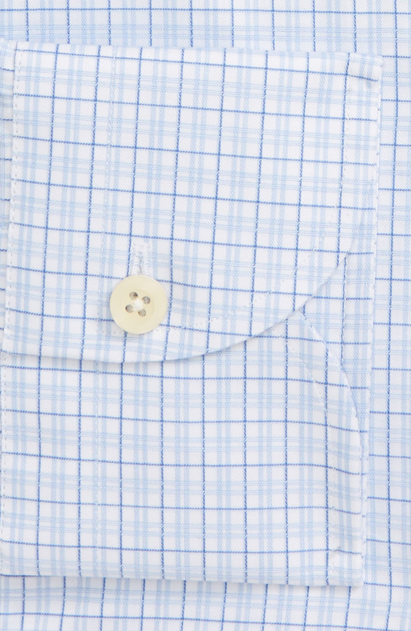 Moorland Trim Fit Check Dress Shirt,                             Alternate thumbnail 6, color,