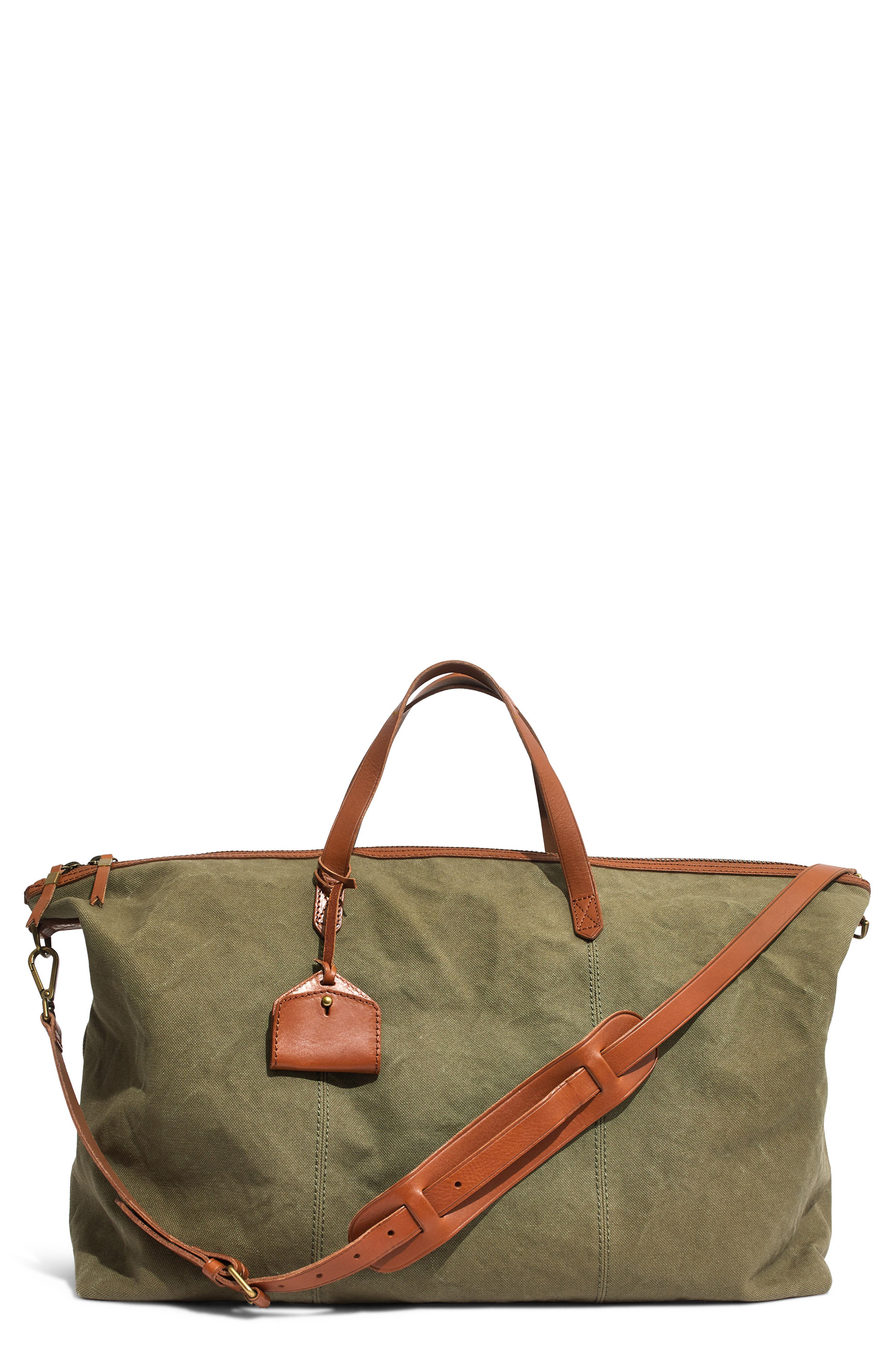 The Transport Canvas Weekend Bag,                         Main,                         color, BRITISH SURPLUS
