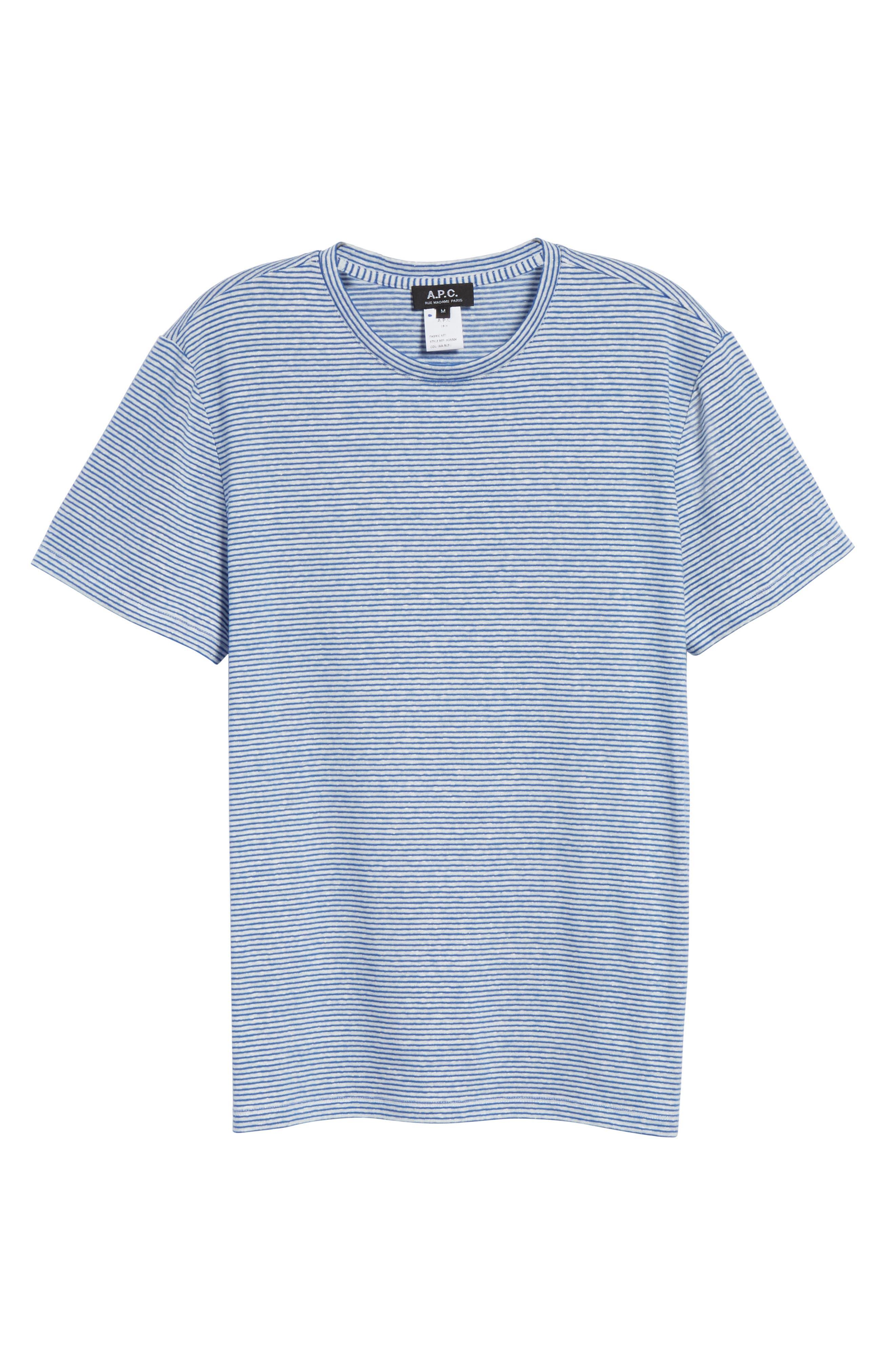 Jimmy Stripe T-Shirt,                             Alternate thumbnail 6, color,                             BLUE