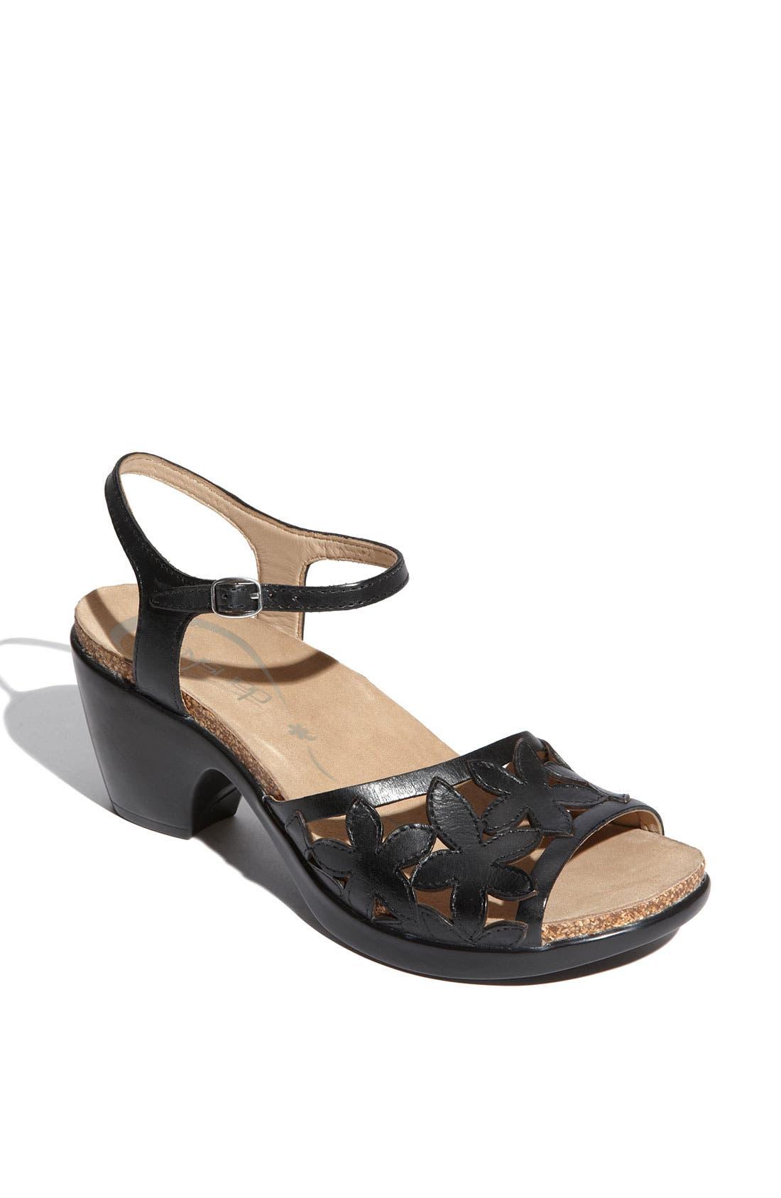 DANSKO,                             'Coquette' Sandal,                             Main thumbnail 1, color,                             001