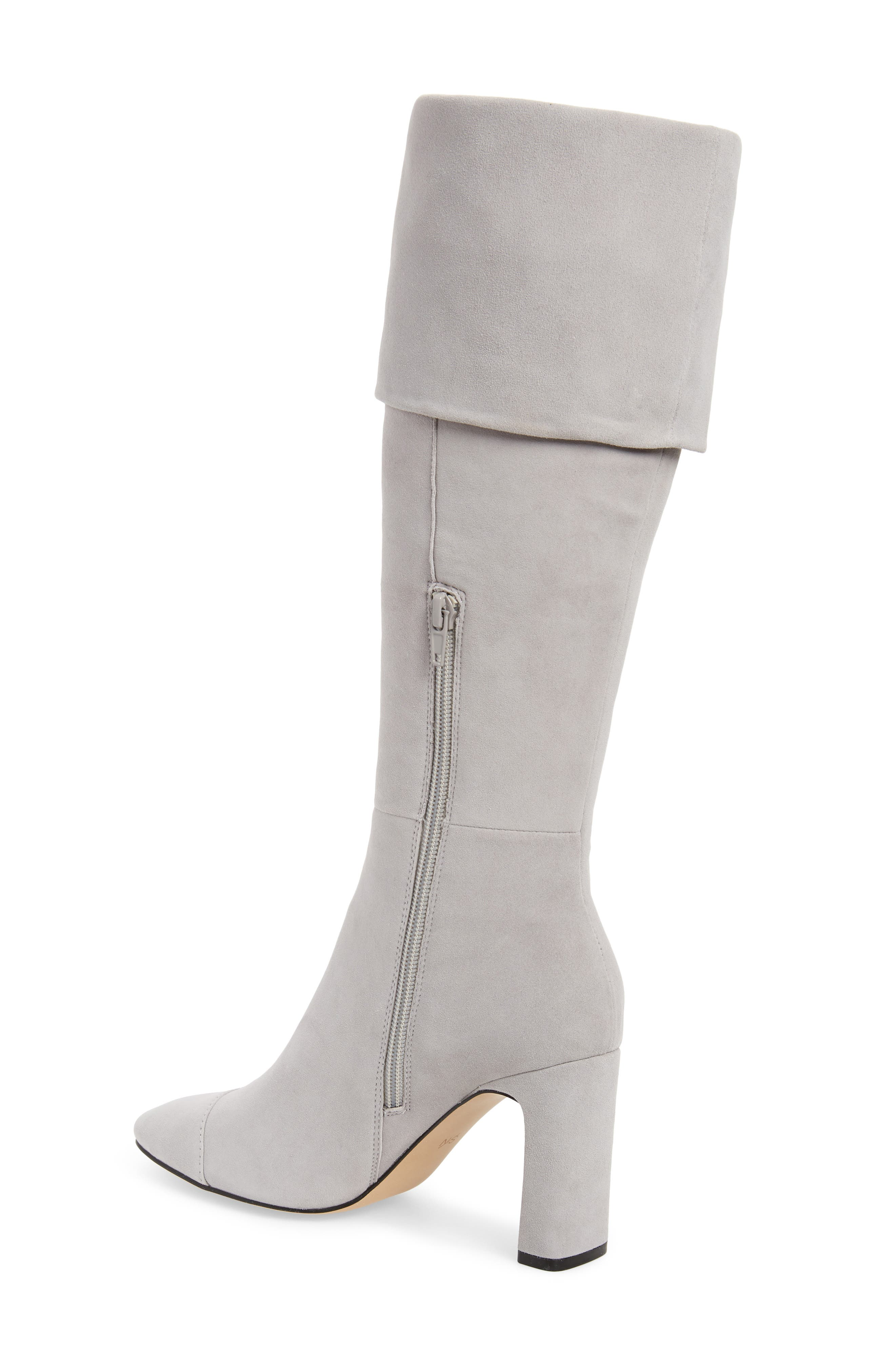 Mia Knee High Boot,                             Alternate thumbnail 3, color,                             LIGHT GREY SUEDE