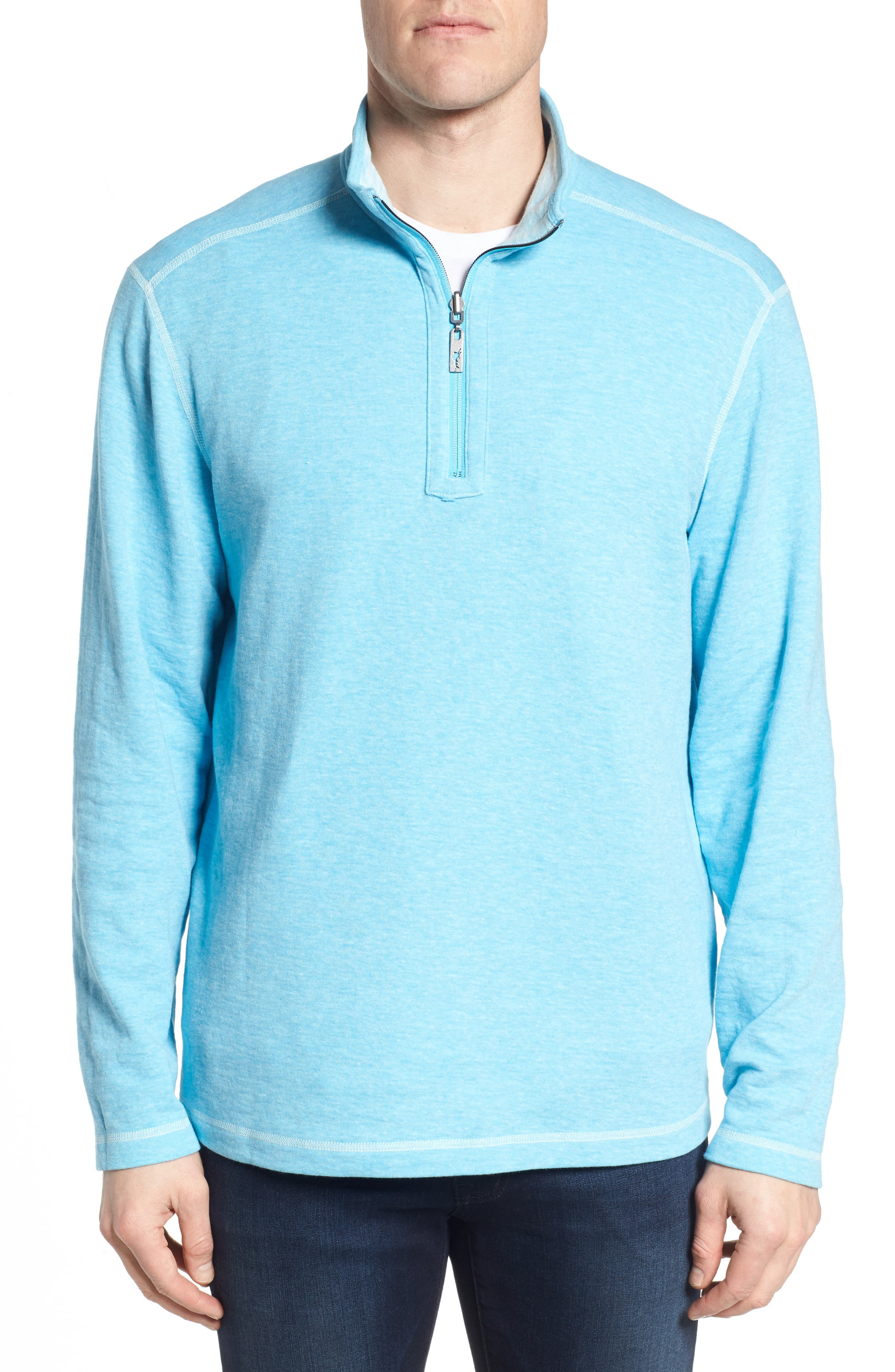 Sea Glass Reversible Quarter Zip Pullover,                             Alternate thumbnail 12, color,
