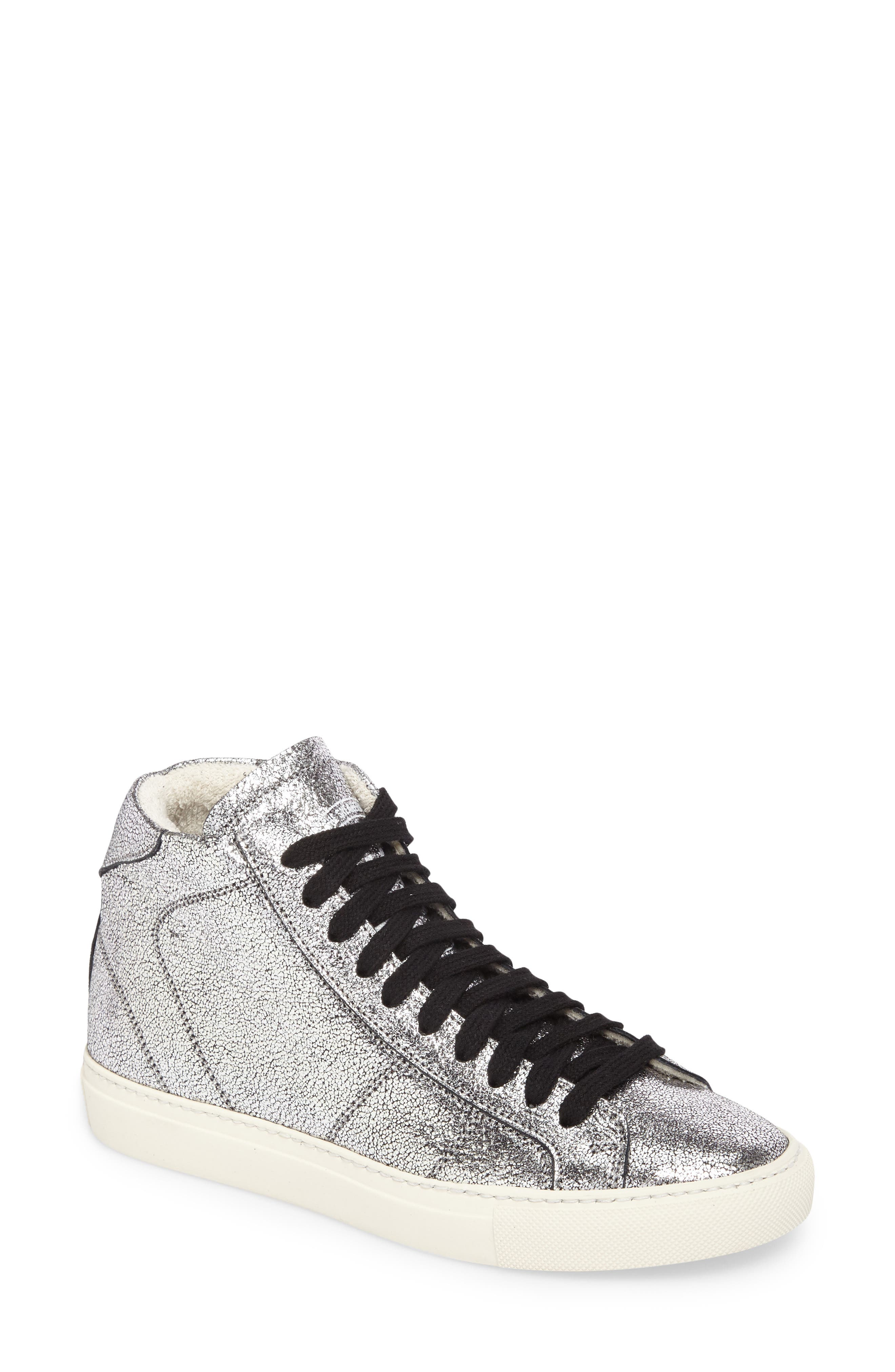 Star 2.0 Sneaker,                             Main thumbnail 1, color,                             SILVER LEATHER