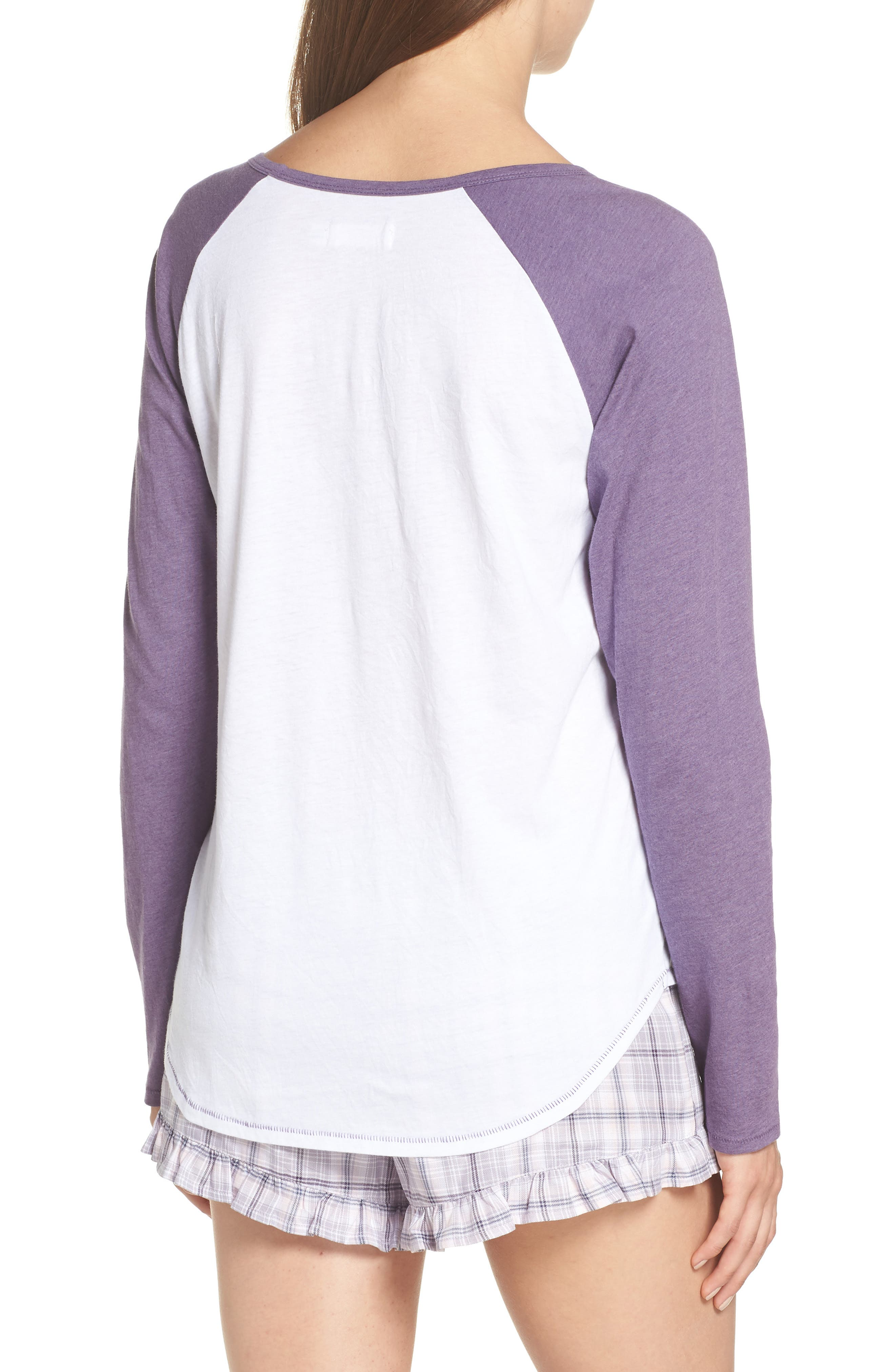 Charly Short Pajamas,                             Alternate thumbnail 2, color,                             LAVENDER AURA PLAID