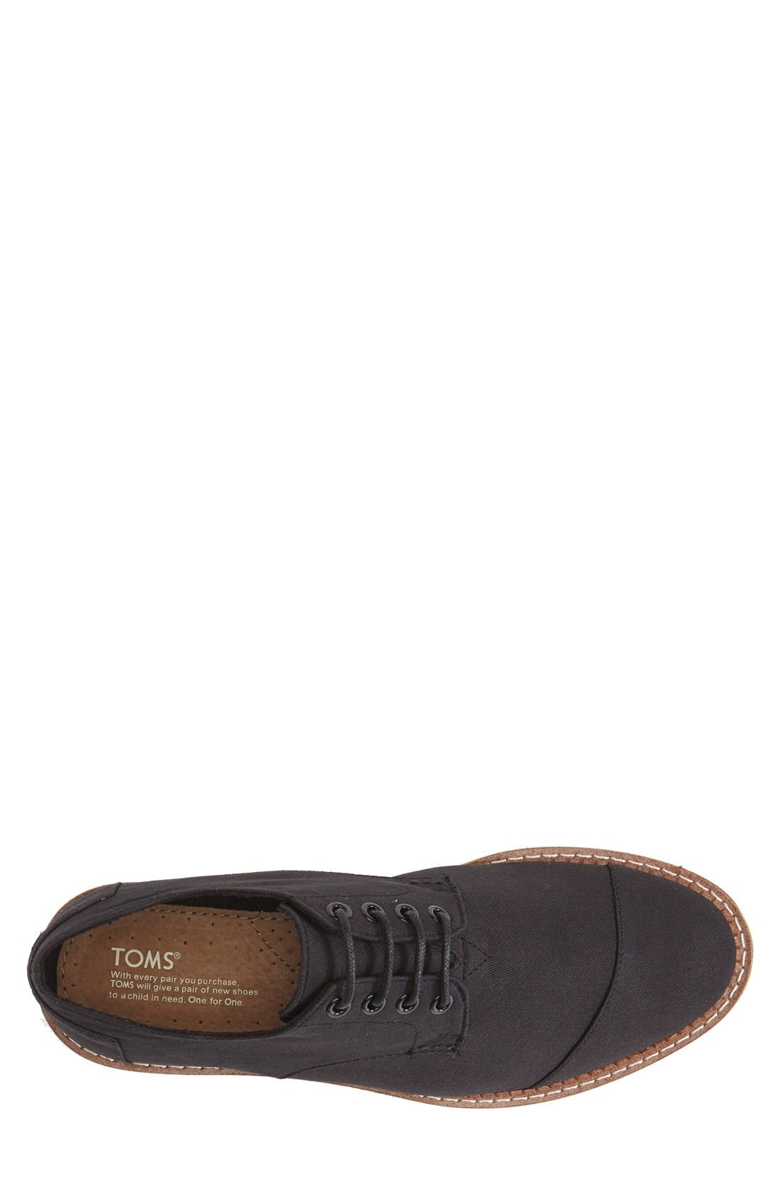 'Classic Brogue' Cotton Twill Derby,                             Alternate thumbnail 3, color,                             001