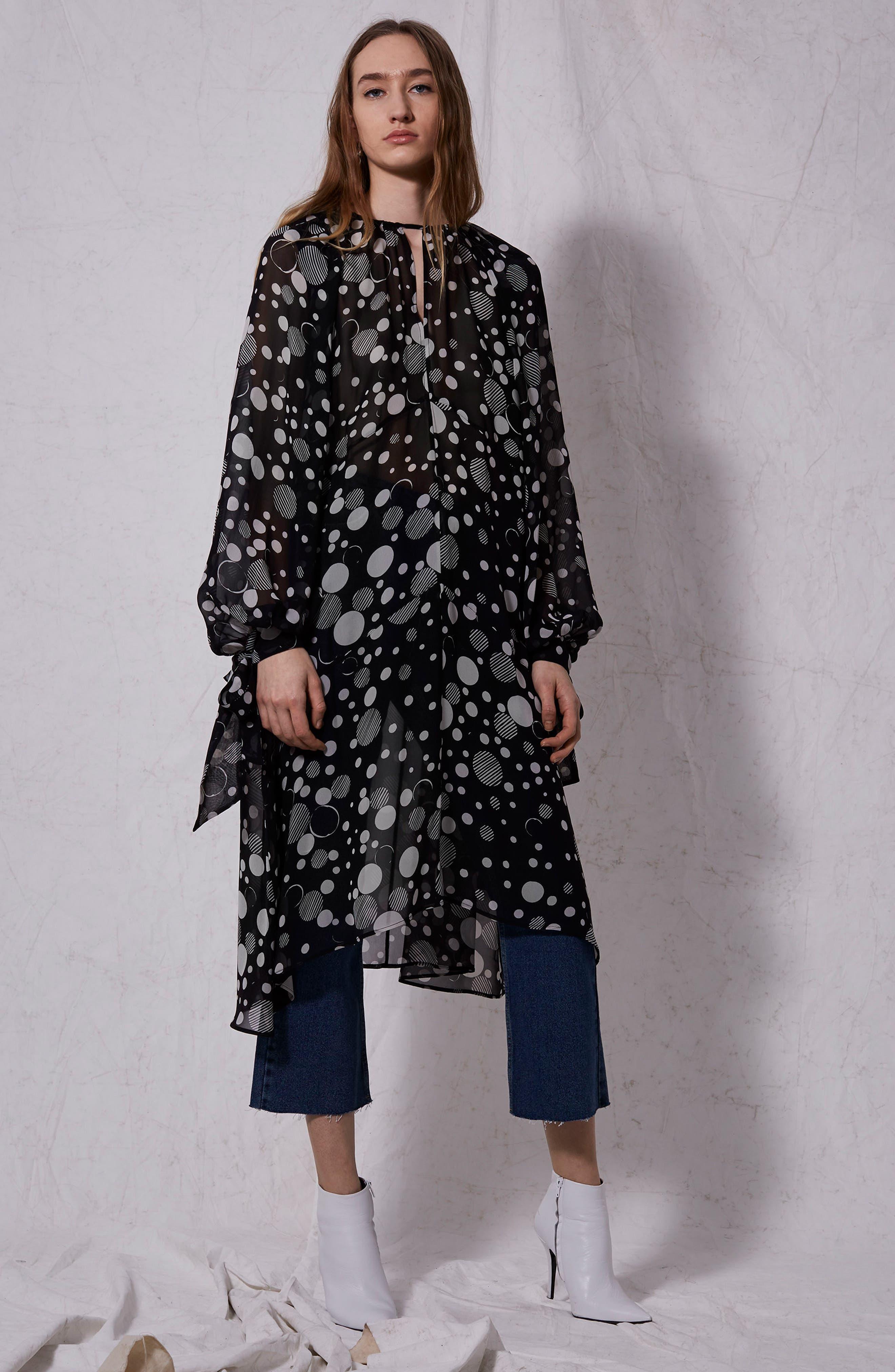 Boutique Humbug Gospel Silk Dress,                             Alternate thumbnail 4, color,