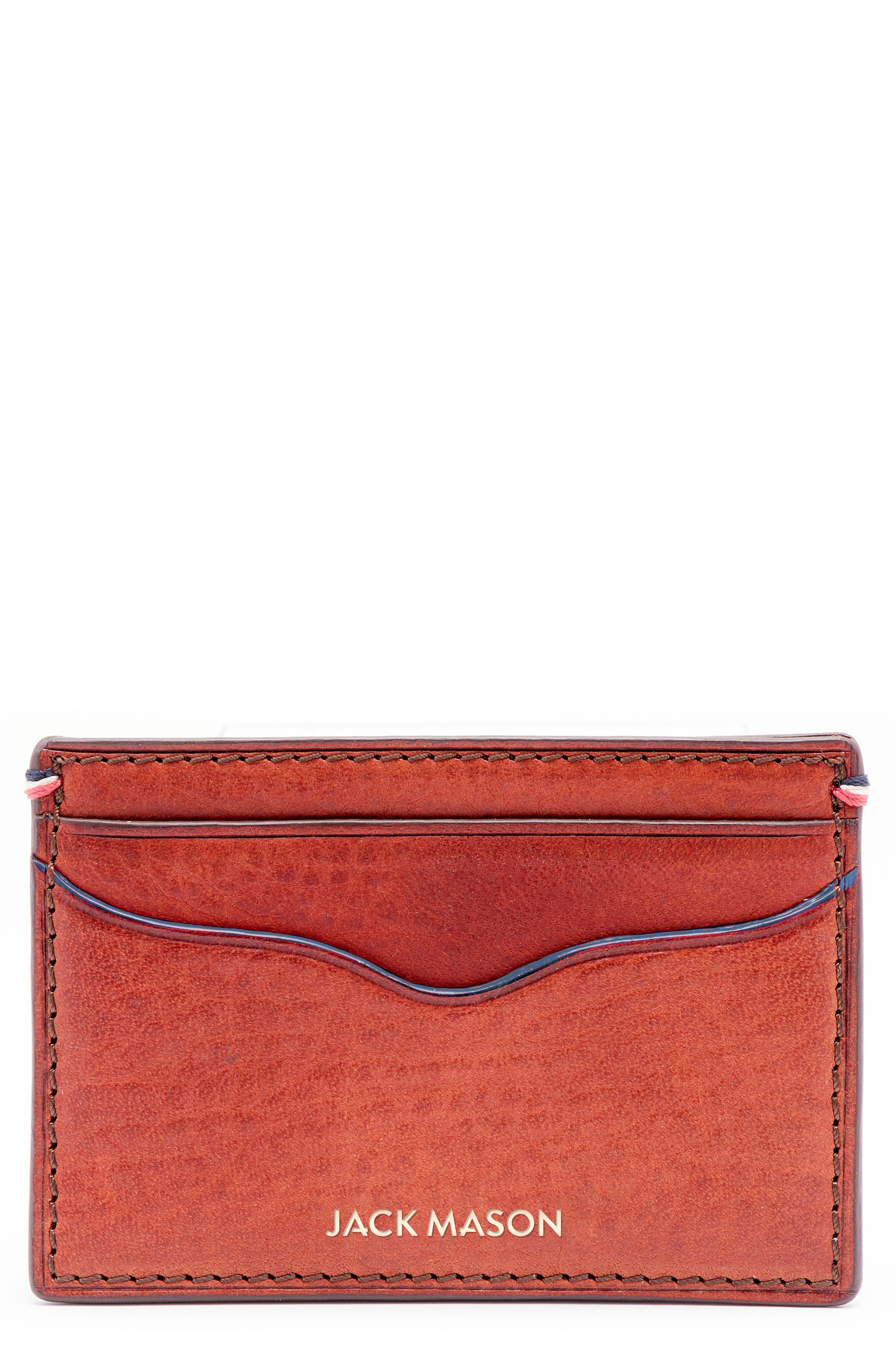 Pebbled Leather Card Case,                         Main,                         color,