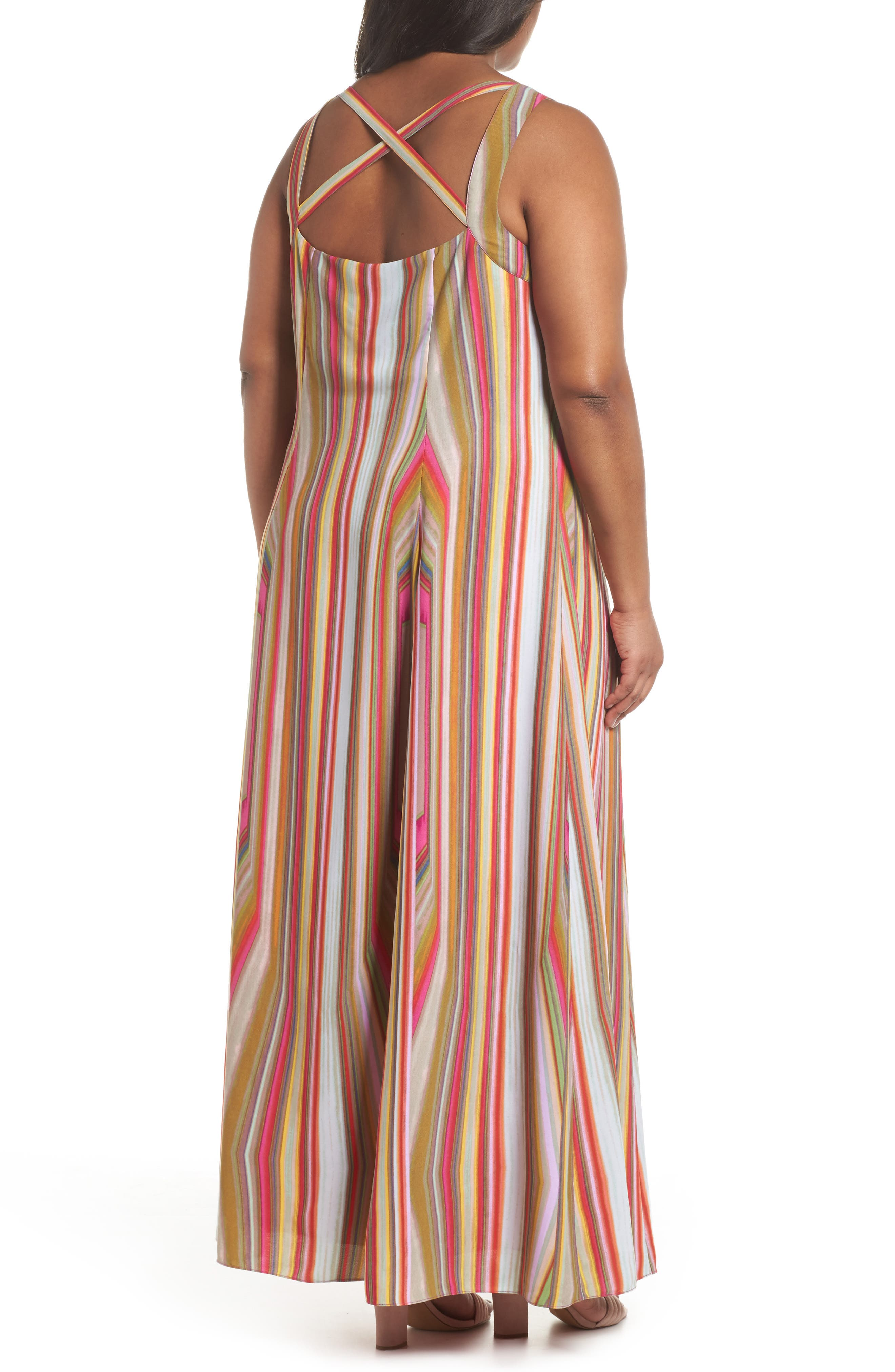 Stripe Strappy Maxi Dress,                             Alternate thumbnail 2, color,                             766