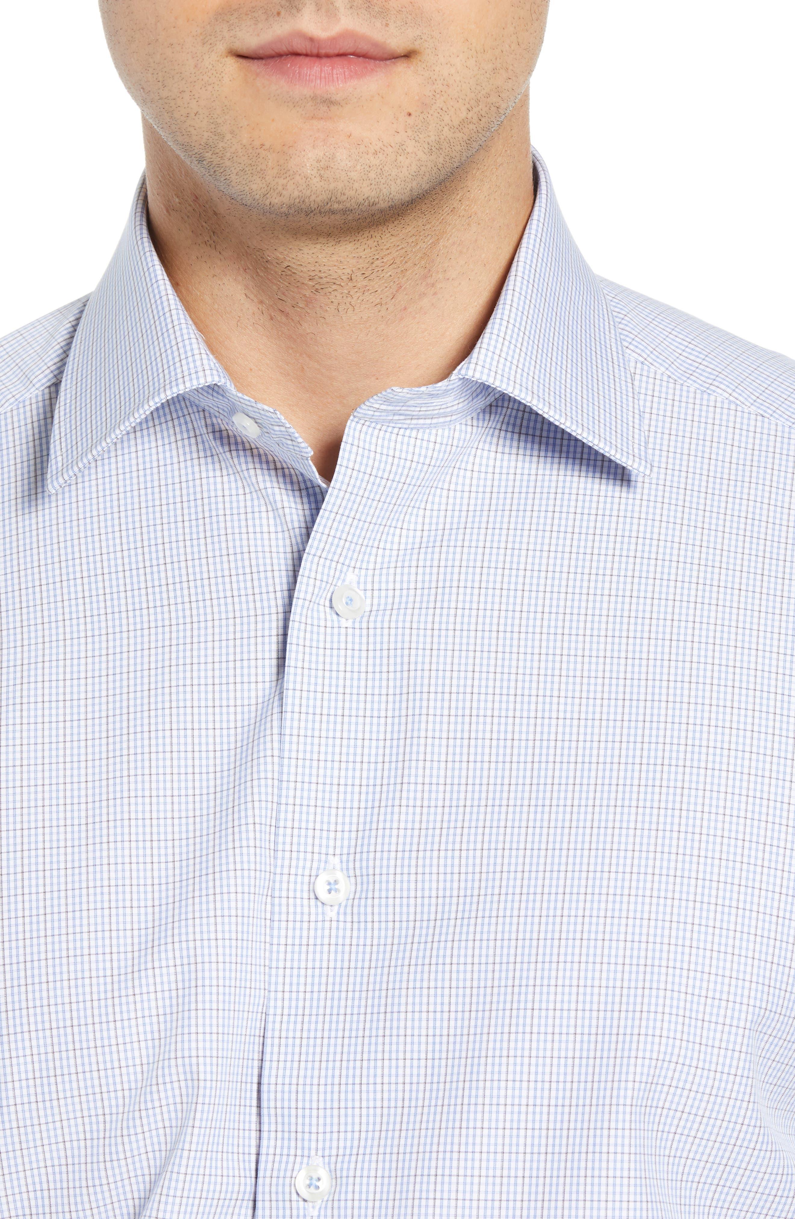 Regular Fit Check Dress Shirt,                             Alternate thumbnail 2, color,                             020