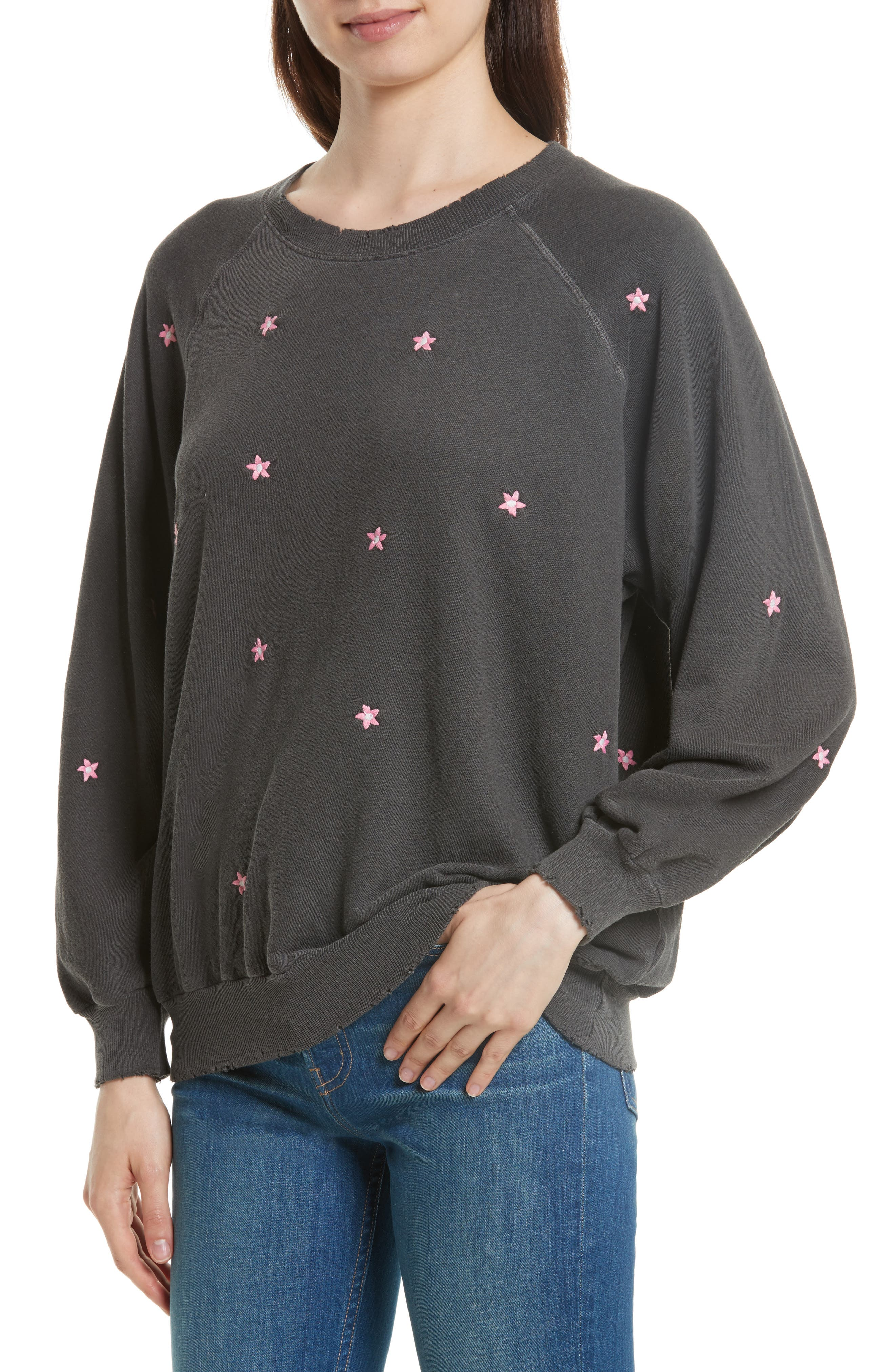 The Embroidered Bubble Sweatshirt,                             Alternate thumbnail 4, color,