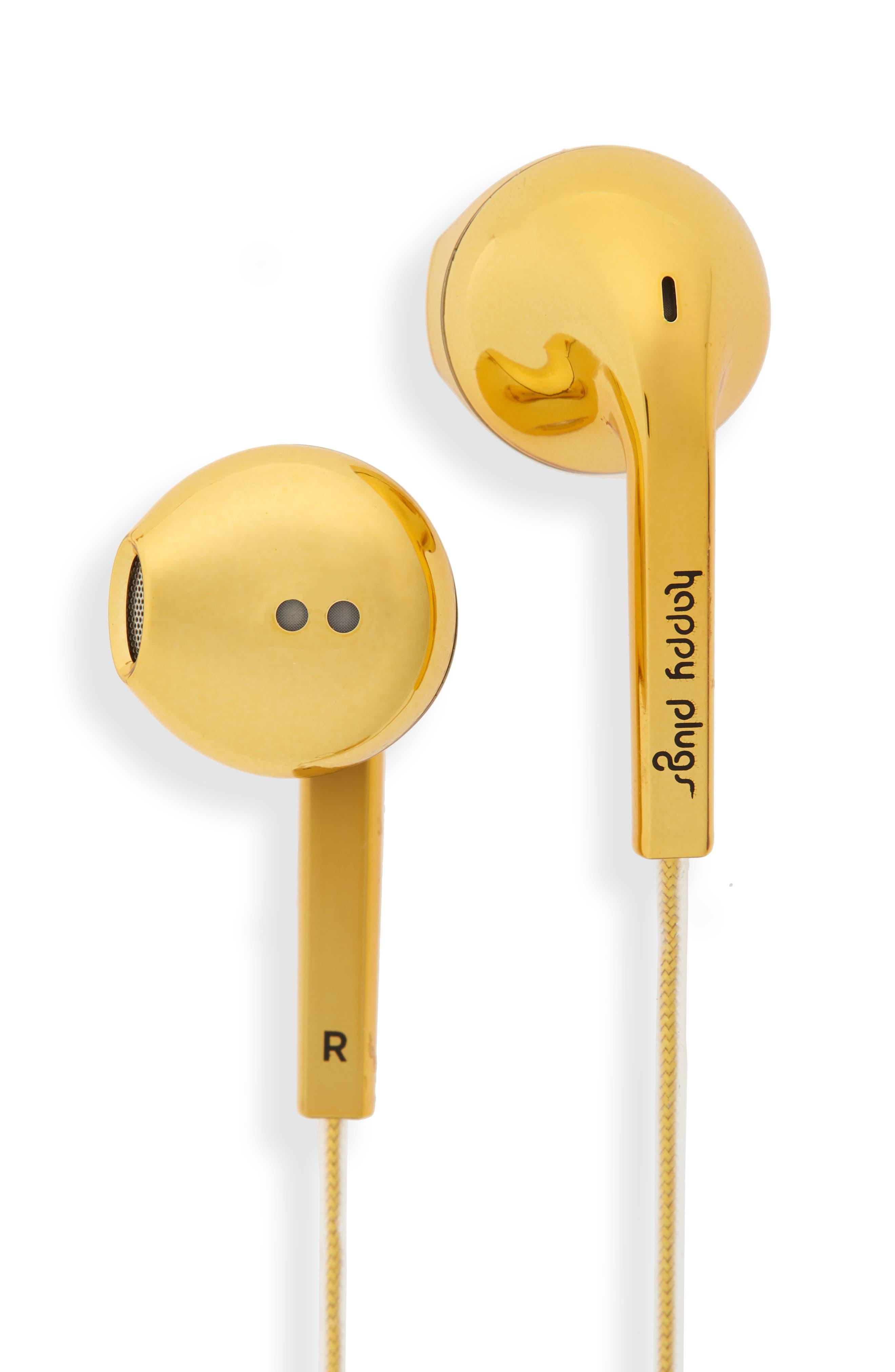 Earbud Plus In-Ear Headphones,                             Main thumbnail 1, color,                             GOLD