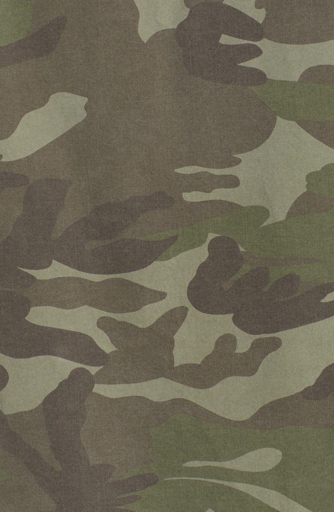 'Alexa' Camo Cotton Military Jacket,                             Alternate thumbnail 6, color,                             300