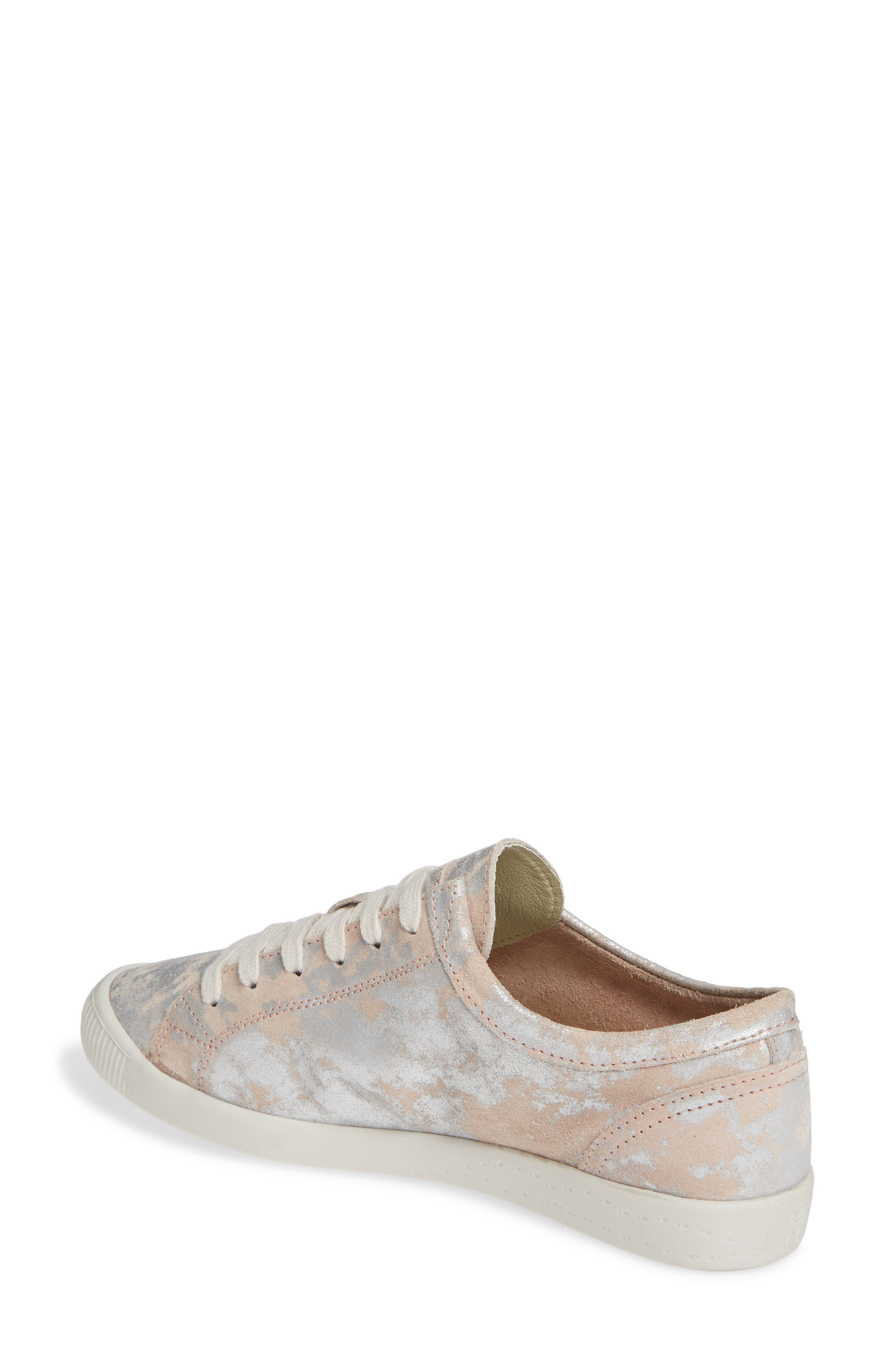 Isla Distressed Sneaker,                             Alternate thumbnail 2, color,                             ROSE LEATHER