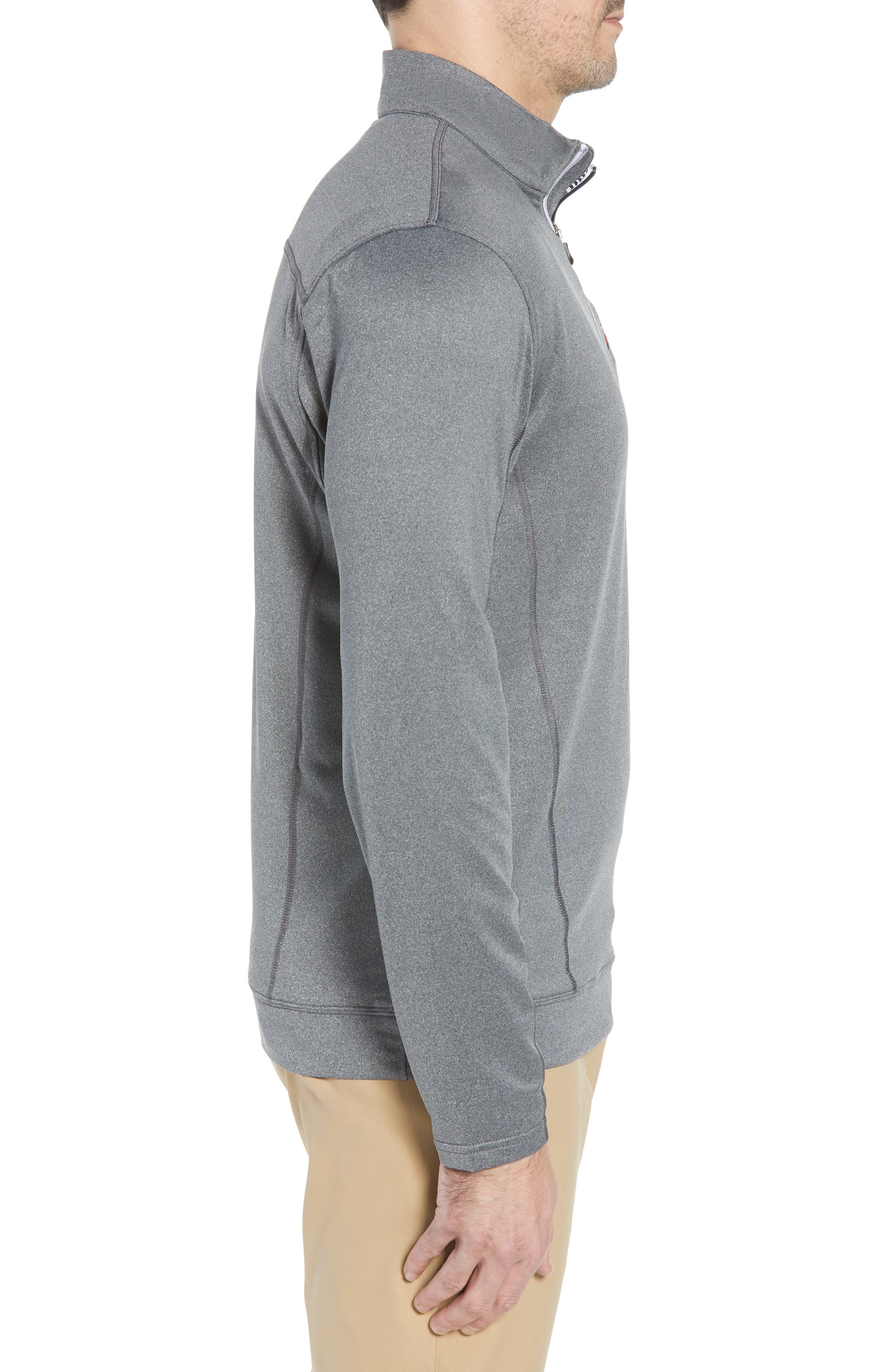 Endurance Tampa Bay Buccaneers Regular Fit Pullover,                             Alternate thumbnail 3, color,                             CHARCOAL HEATHER