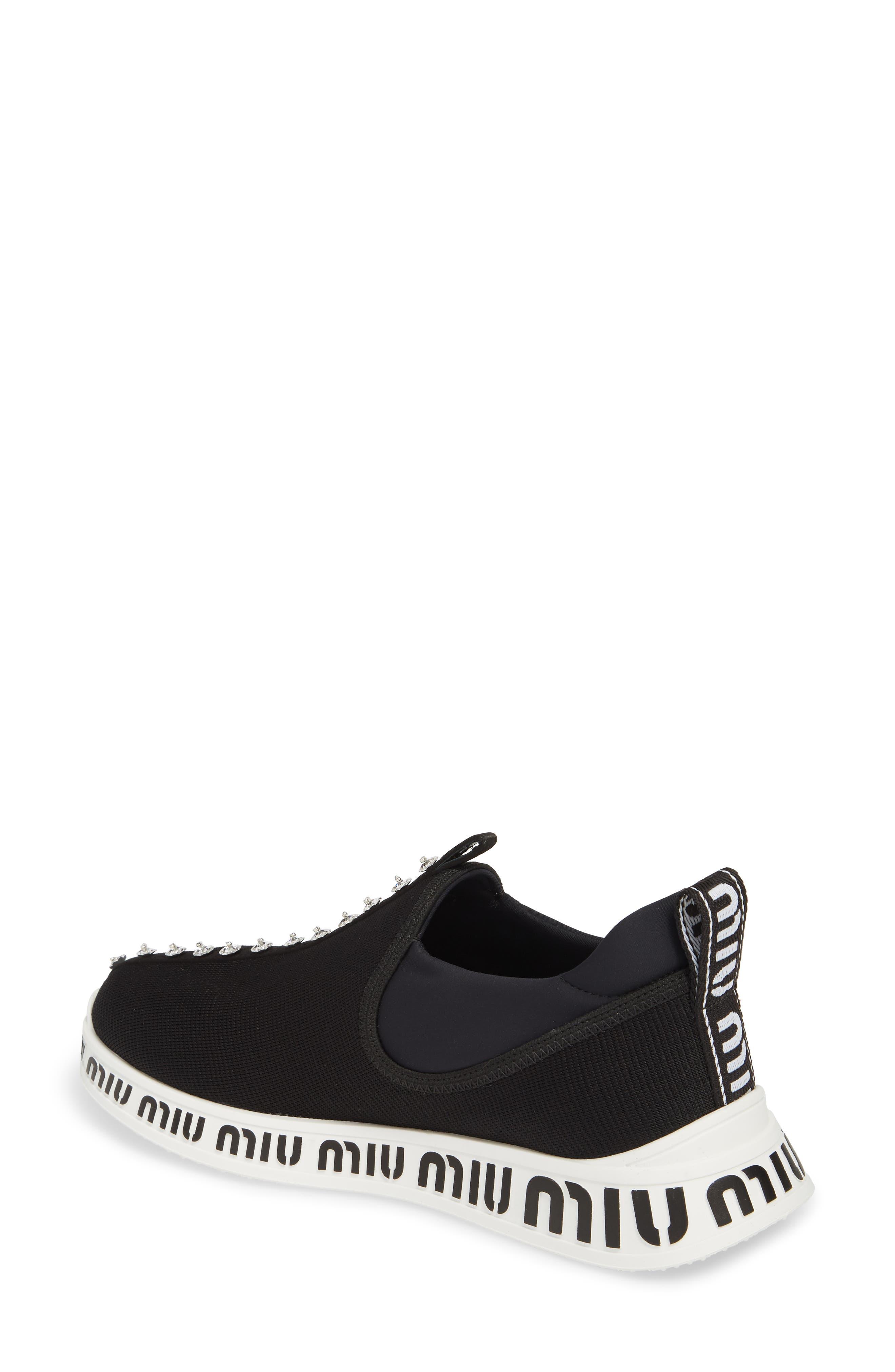 Logo Slip-On Sneaker,                             Alternate thumbnail 2, color,                             BLACK