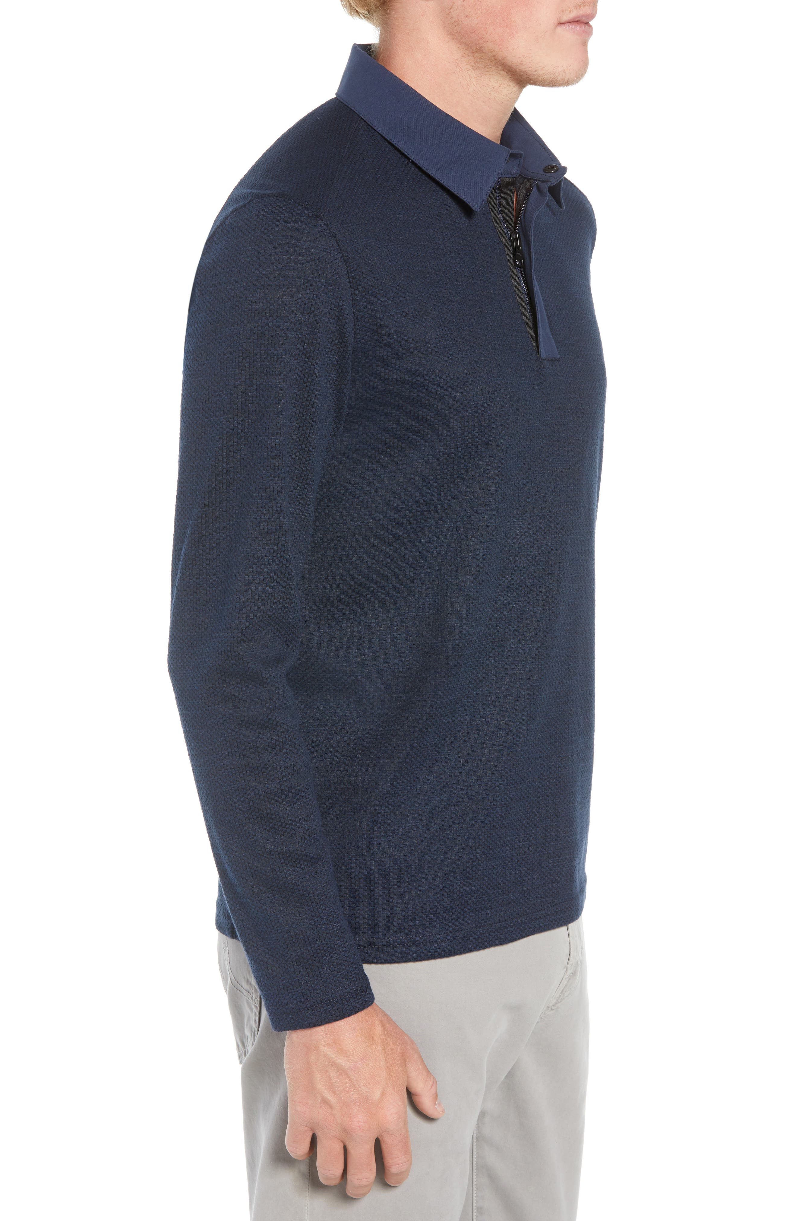 Echo Slim Fit Polo,                             Alternate thumbnail 3, color,                             NAVY