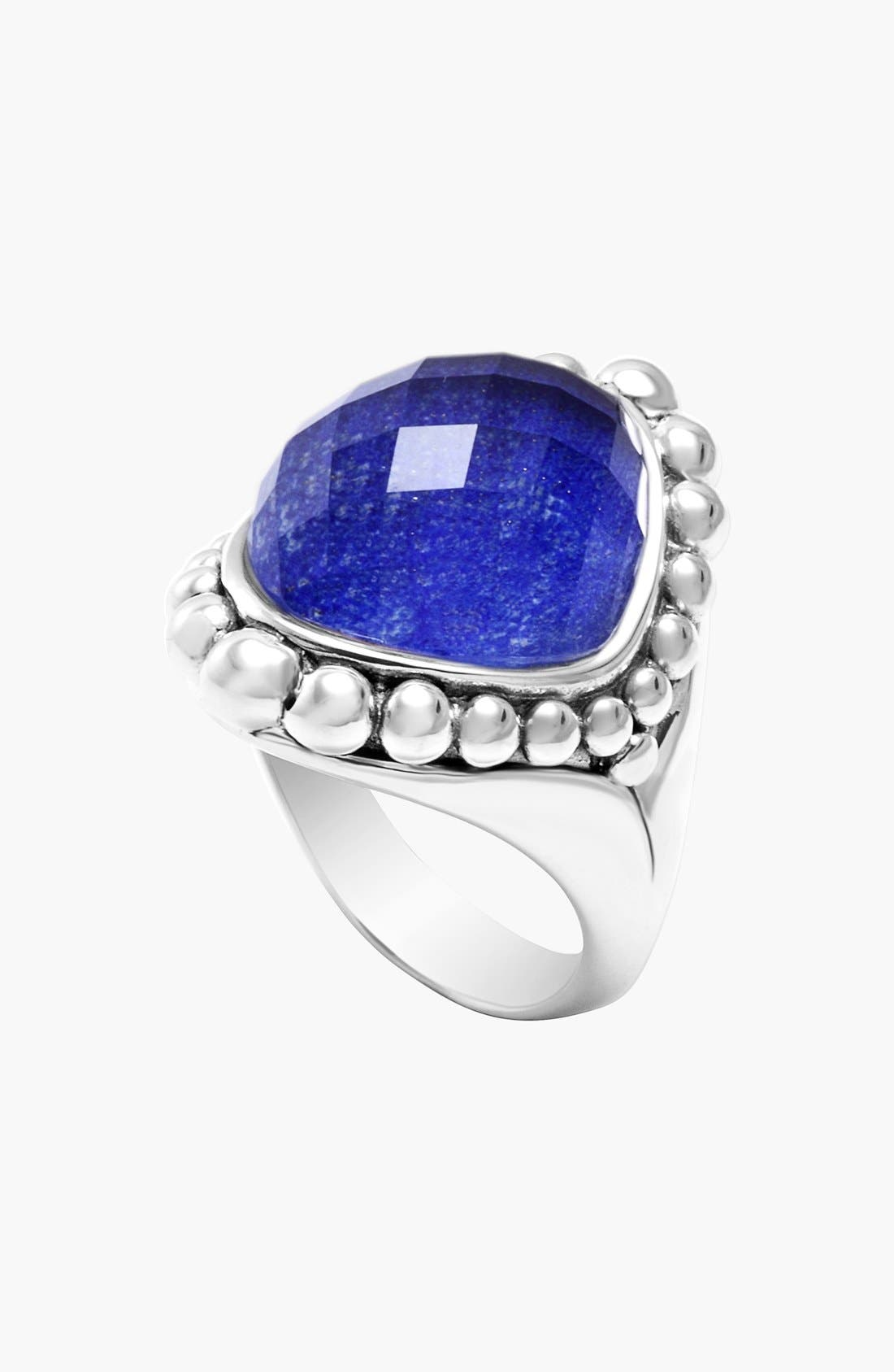 Maya Stone Ring,                             Alternate thumbnail 7, color,                             LAPIS