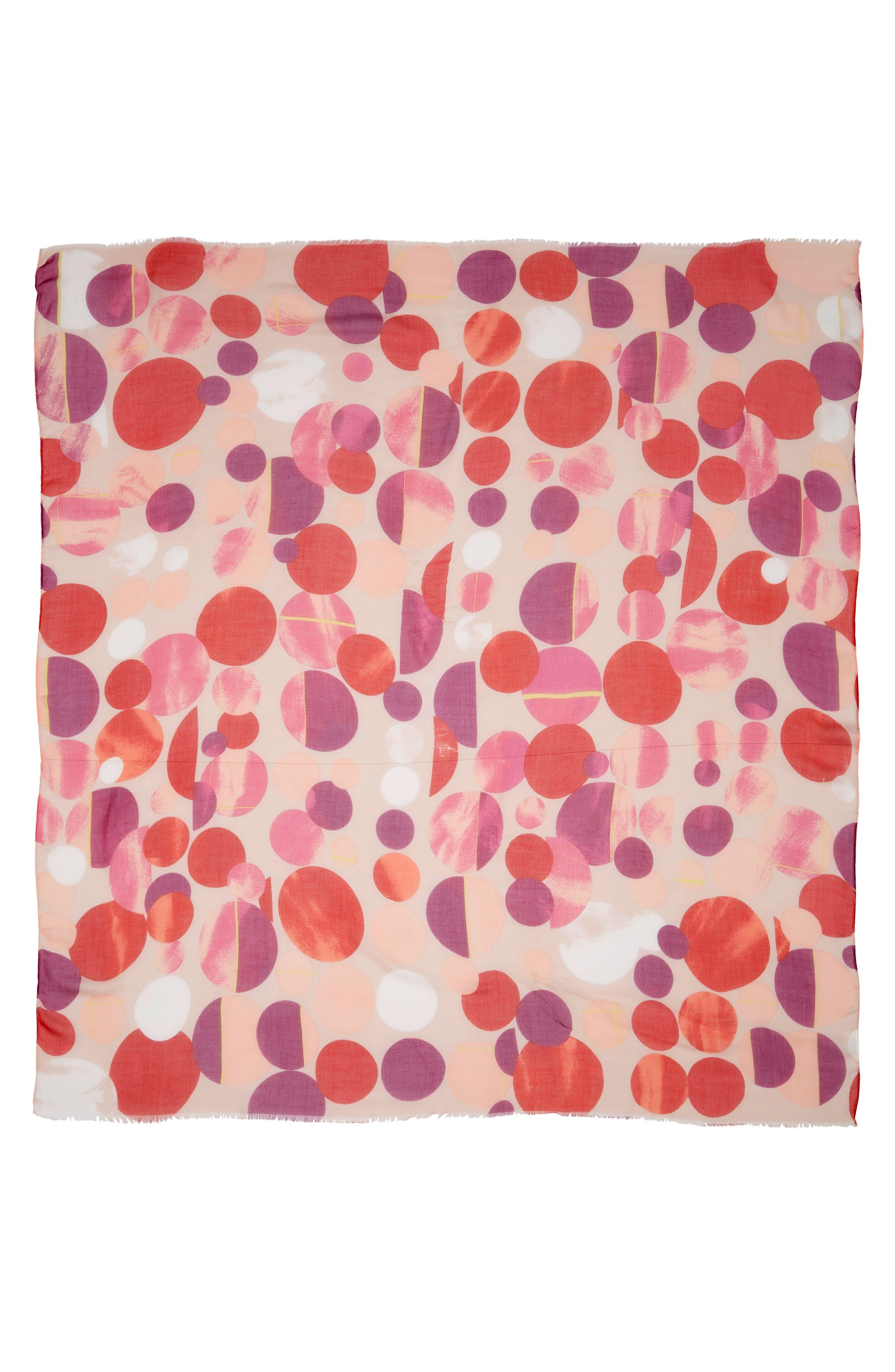 Dot Print Square Scarf,                             Alternate thumbnail 12, color,