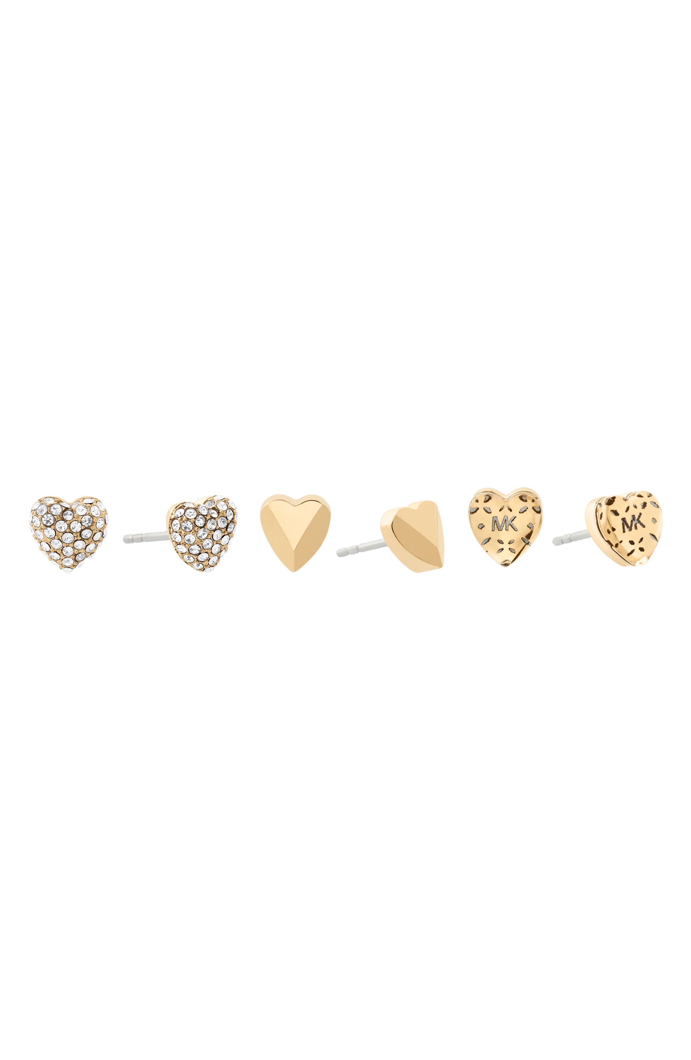 Set of 3 Stud Earrings,                             Alternate thumbnail 6, color,