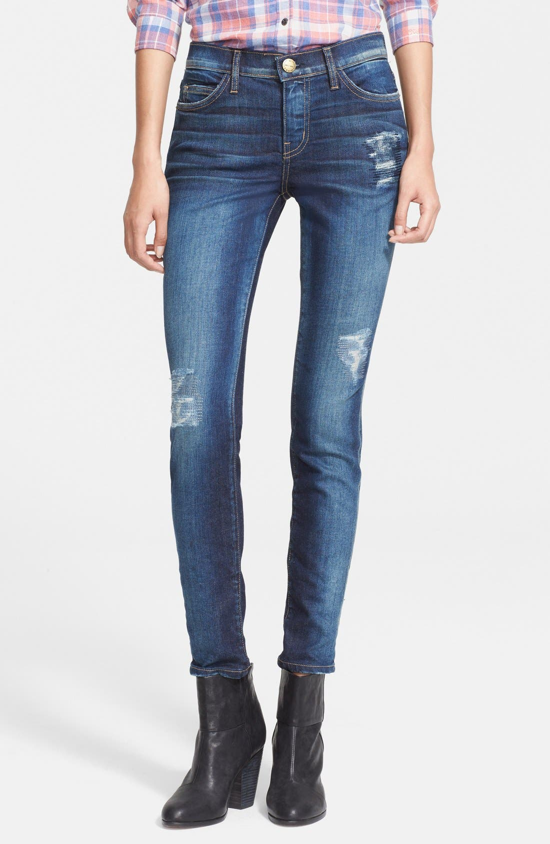 'The Stiletto' Destroyed Skinny Jeans,                             Main thumbnail 8, color,